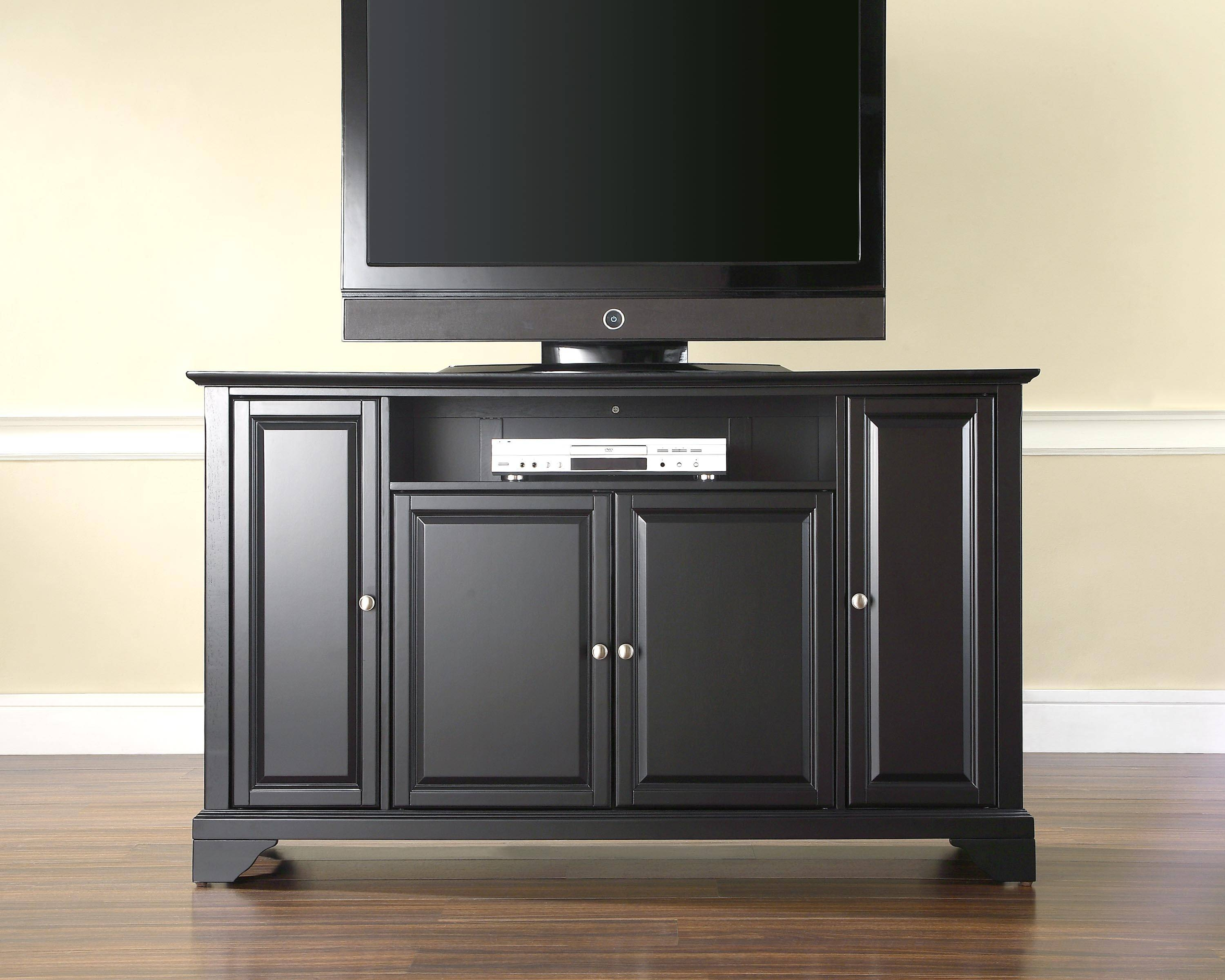 Furniture Eye Catching Wooden White Tv Stand With Tier Shelves Intended For Cheap Wood Tv Stands (View 5 of 15)