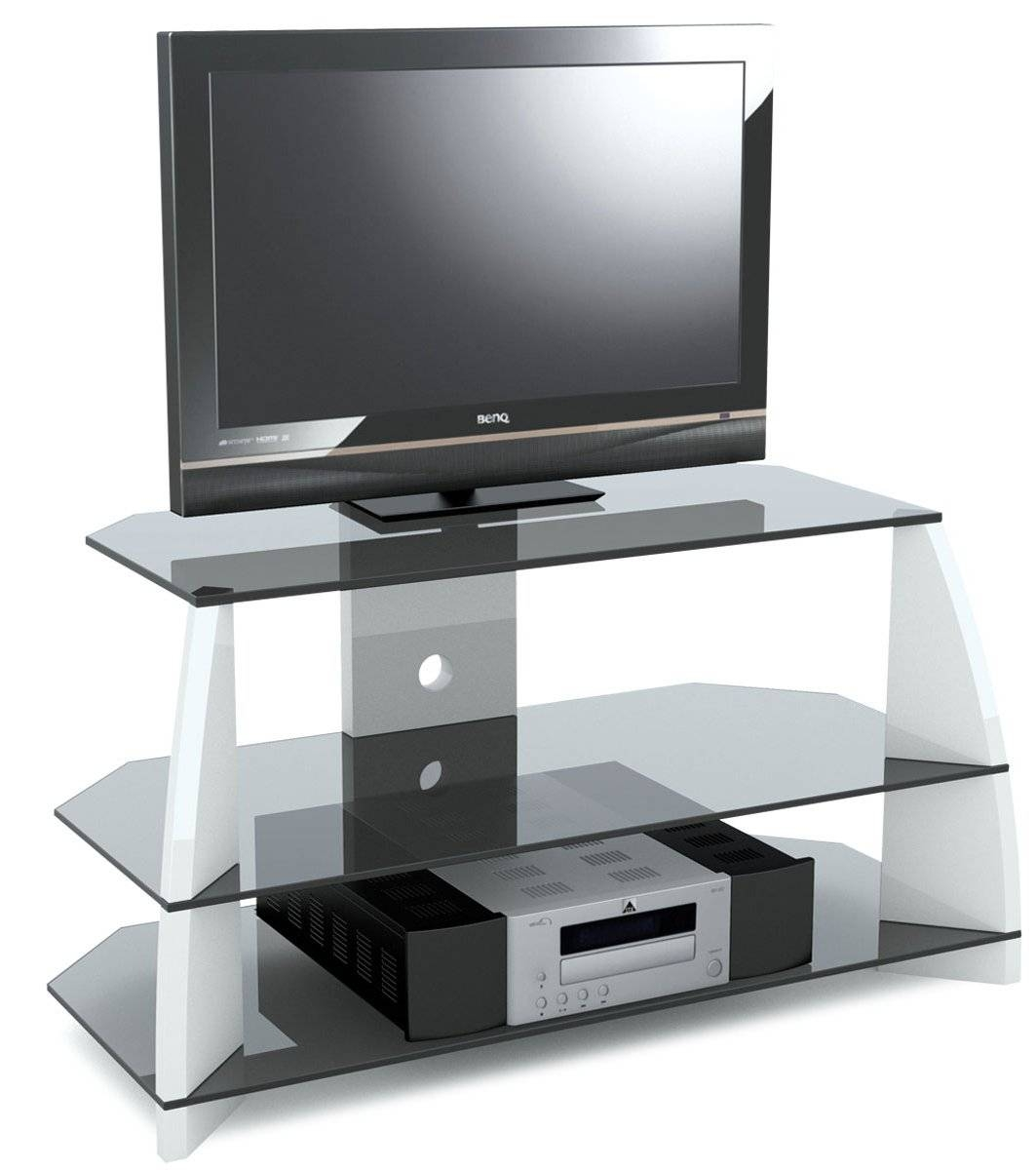 Furniture. Fabulous White Corner Tv Stand Designs. Custom Decor for Stil Tv Stands (Image 4 of 15)