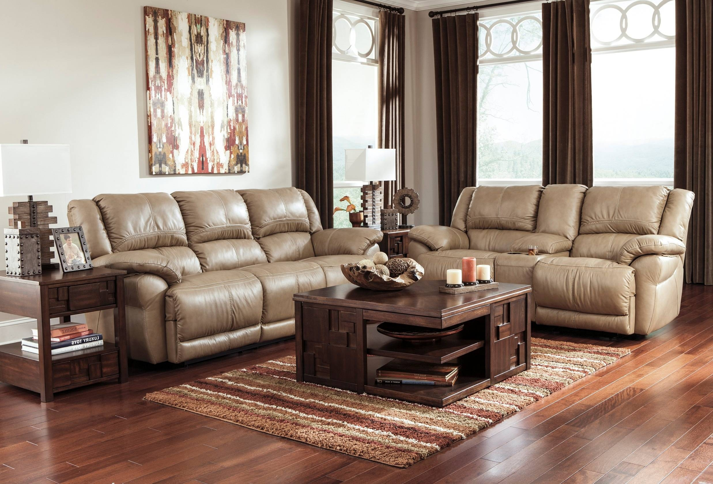 Furniture: Full Grain Leather Sectional | Costco Leather Sofa with regard to Caramel Leather Sofas (Image 6 of 15)