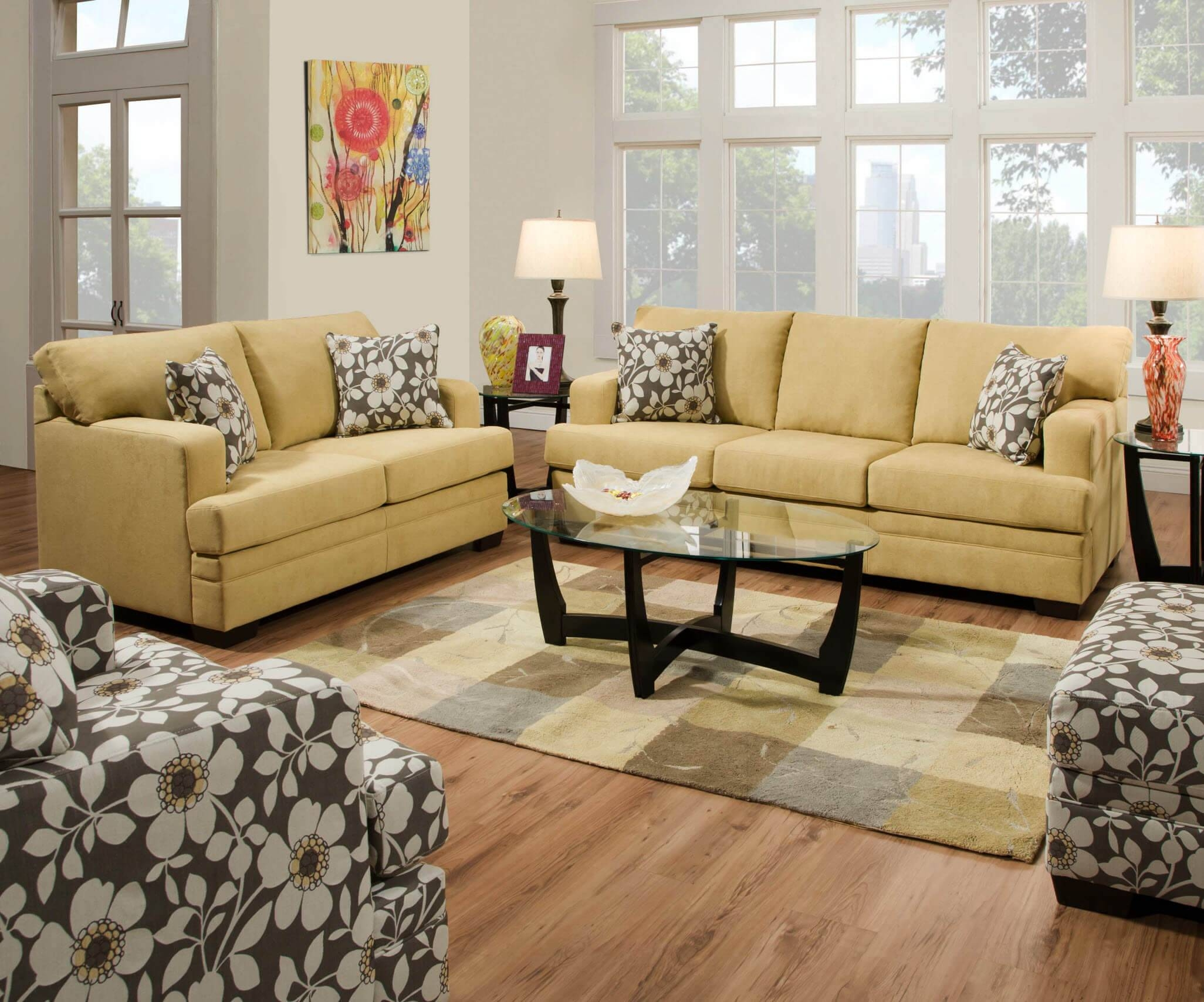 Furniture: Grey Sofa And Loveseat Set | Discount Sectional Sofas pertaining to Simmons Sofas (Image 3 of 15)