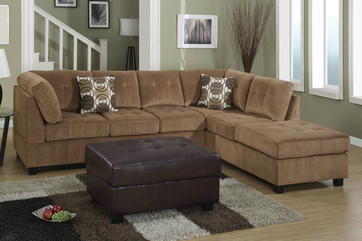 Furniture Home: Brown Microfiber Sectional Sofa 81 With Brown within Microfiber Sectional Sofas (Image 8 of 15)