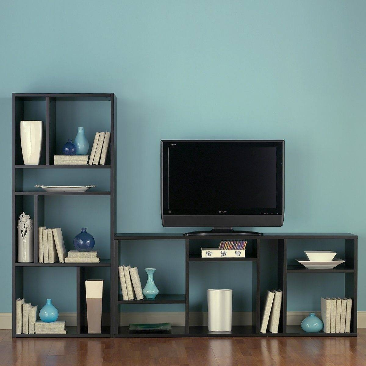 Furniture Home : Cool Diy Industrial Pipe And Wood Combo Tv Stand regarding Bookshelf Tv Stands Combo (Image 3 of 15)