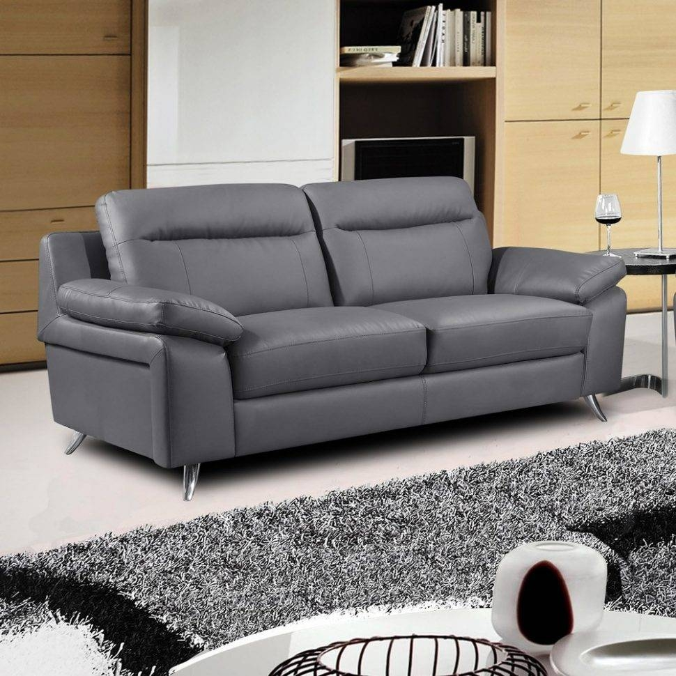 Furniture Home : Grey Leather Sofa (15) Interior Simple Design for Charcoal Grey Leather Sofas (Image 6 of 15)