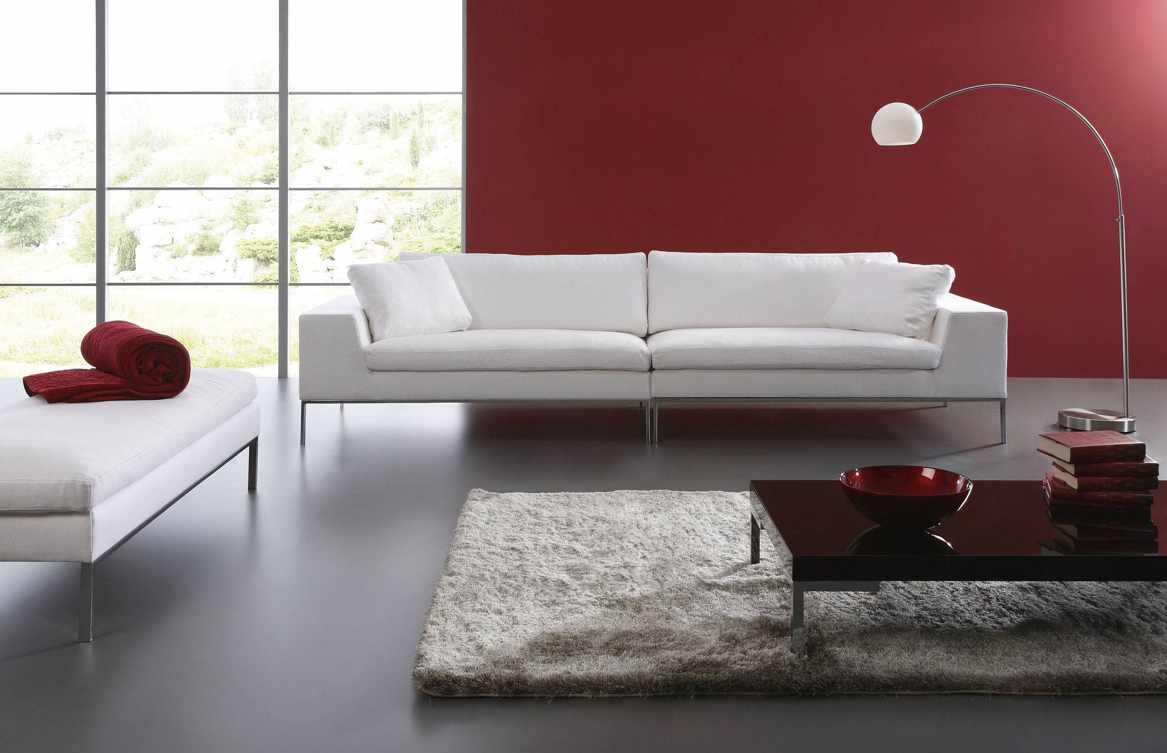 Furniture: Interesting Living Room Design With Contemporary Sofas with regard to Window Sofas (Image 7 of 15)
