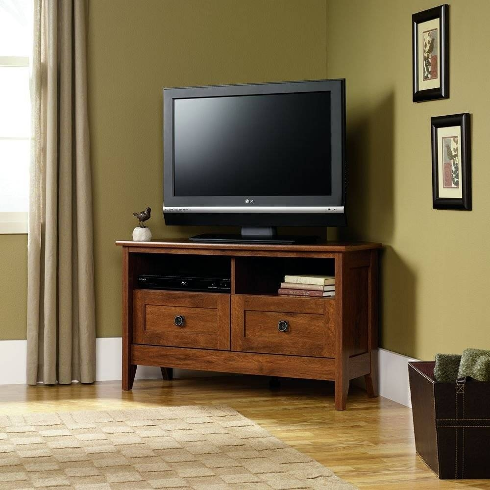 Furniture: Interesting Sauder Tv Stand For Home Furniture Ideas throughout Maple Wood Tv Stands (Image 3 of 15)