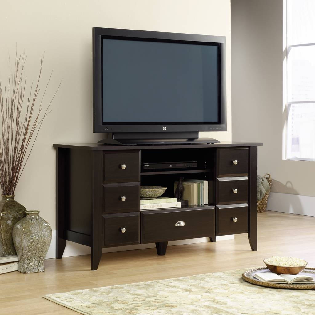 Furniture: Interesting Sauder Tv Stand For Home Furniture Ideas within Fancy Tv Stands (Image 9 of 15)