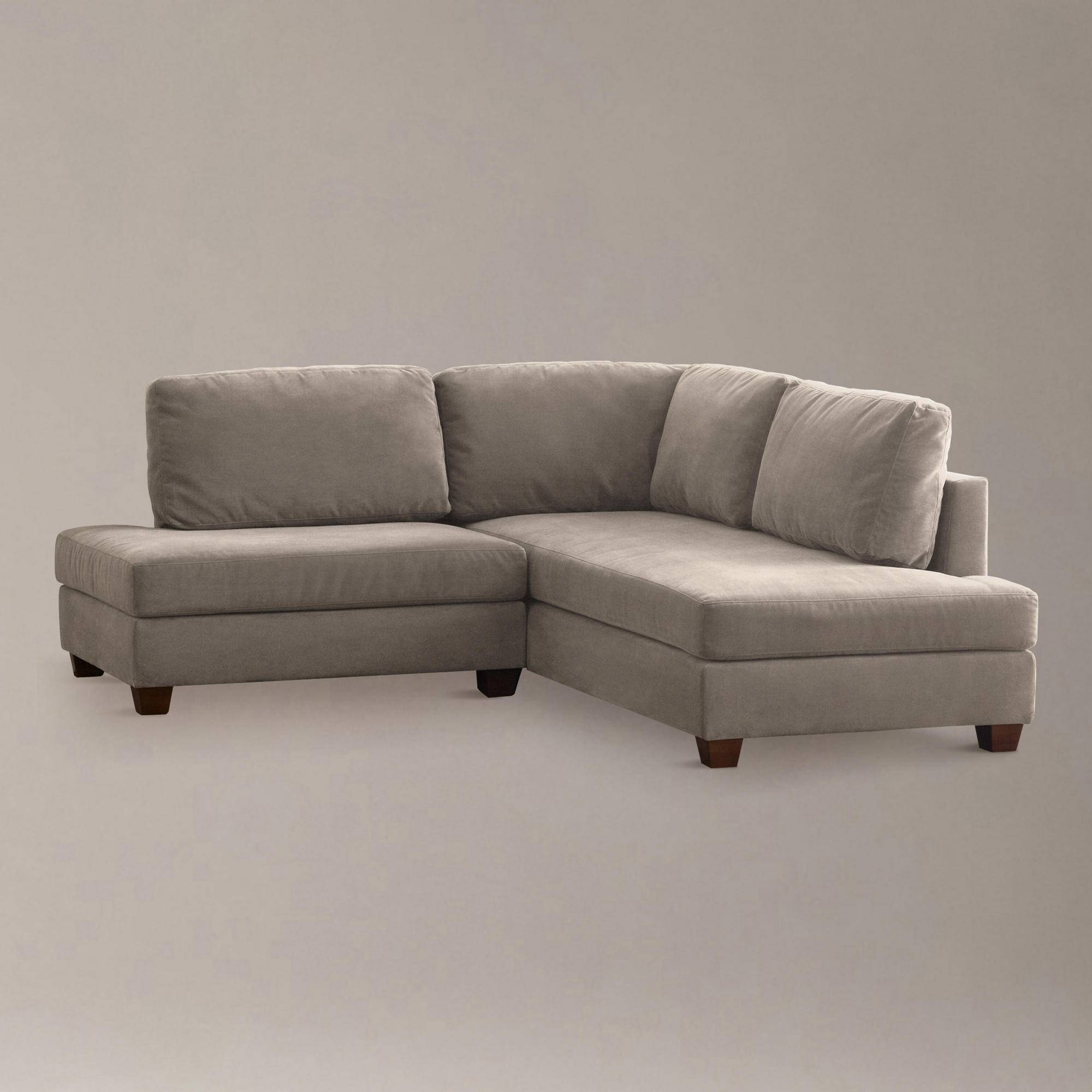 Furniture: Leather Sectional Sofa With Chaise | Sofas And within Small Grey Sofas (Image 6 of 15)