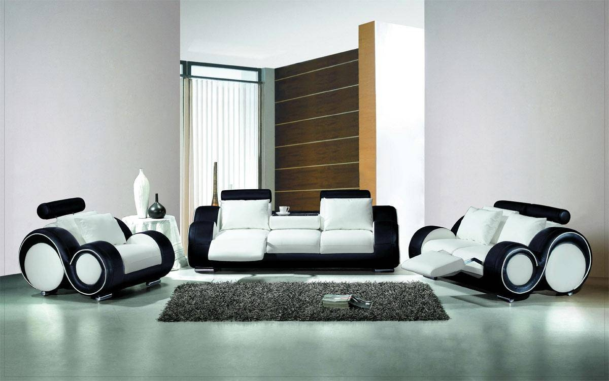 Furniture: Living Room Unique Living Room Furniture Design With in Sofas Black and White Colors (Image 8 of 15)