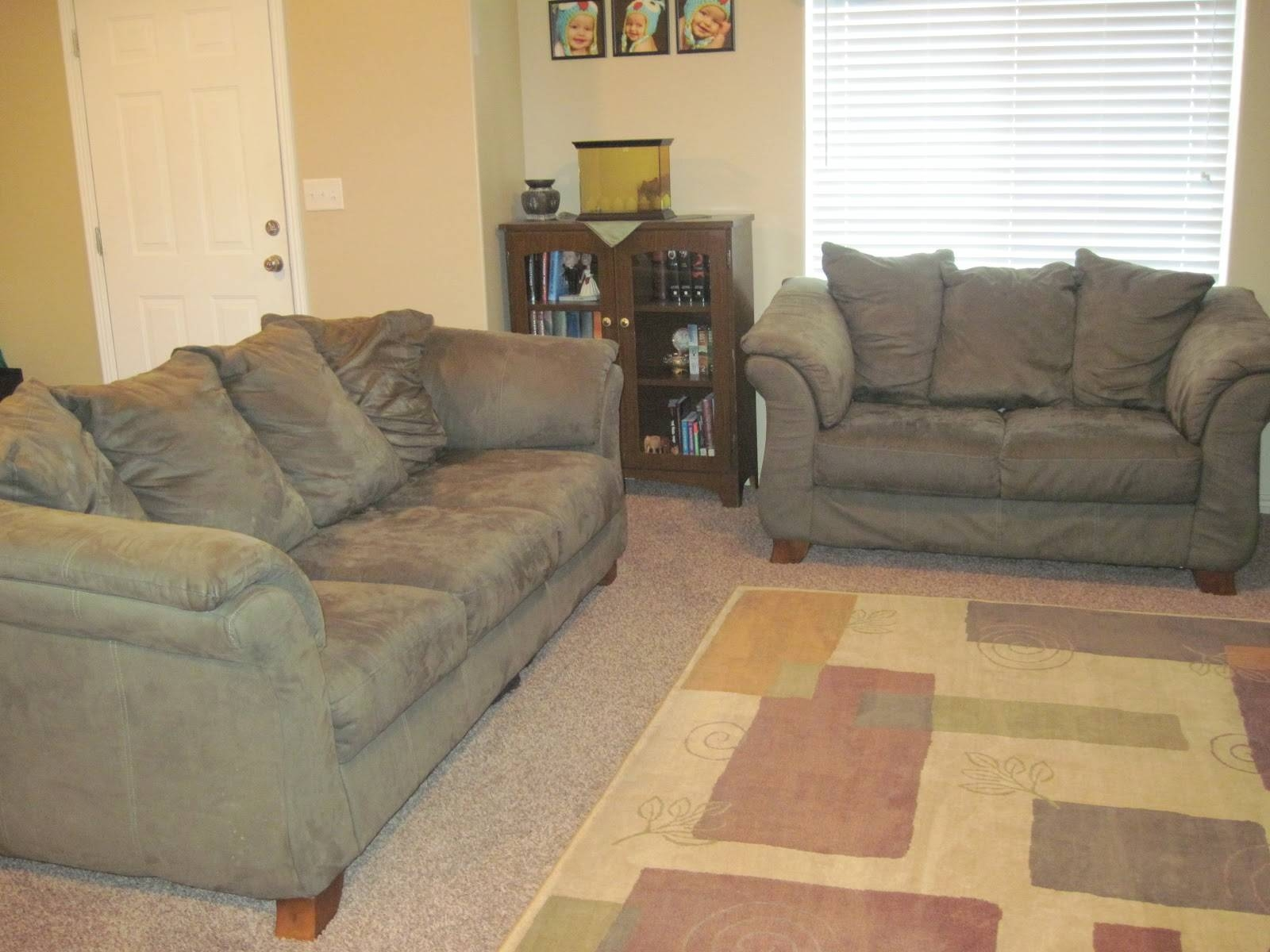 Furniture: Lovely Brown Microfiber Couch With Superb Color for Green Microfiber Sofas (Image 6 of 15)