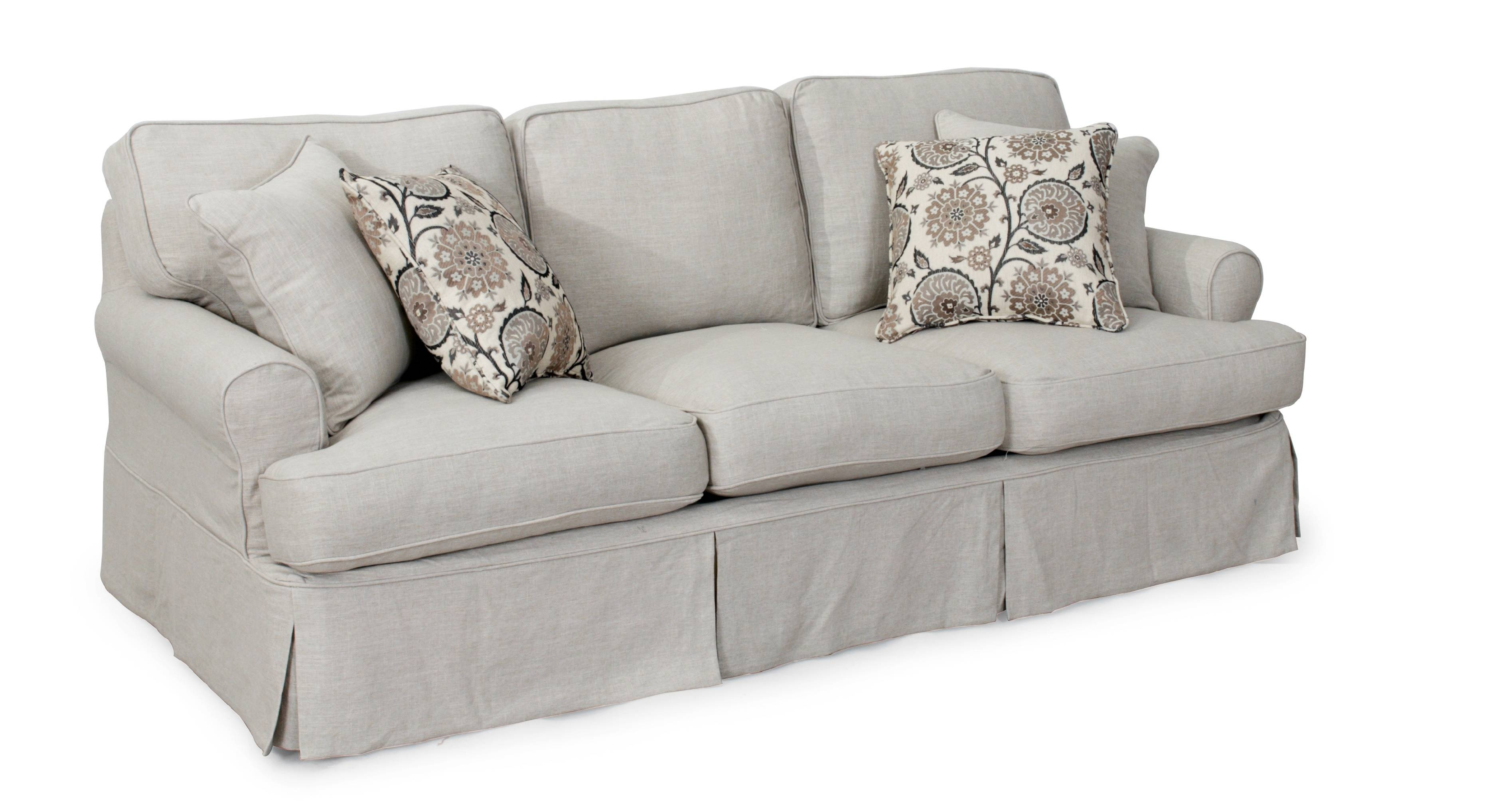 Furniture: Loveseat Slipcover Reviews | Loveseat Slipcover T Pertaining To Slipcovers For 3 Cushion Sofas (Photo 2 of 15)