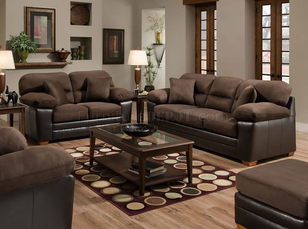 Furniture: Microsuede Sleeper Sofa With Brown Microfiber Couch inside Microsuede Sleeper Sofas (Image 5 of 15)