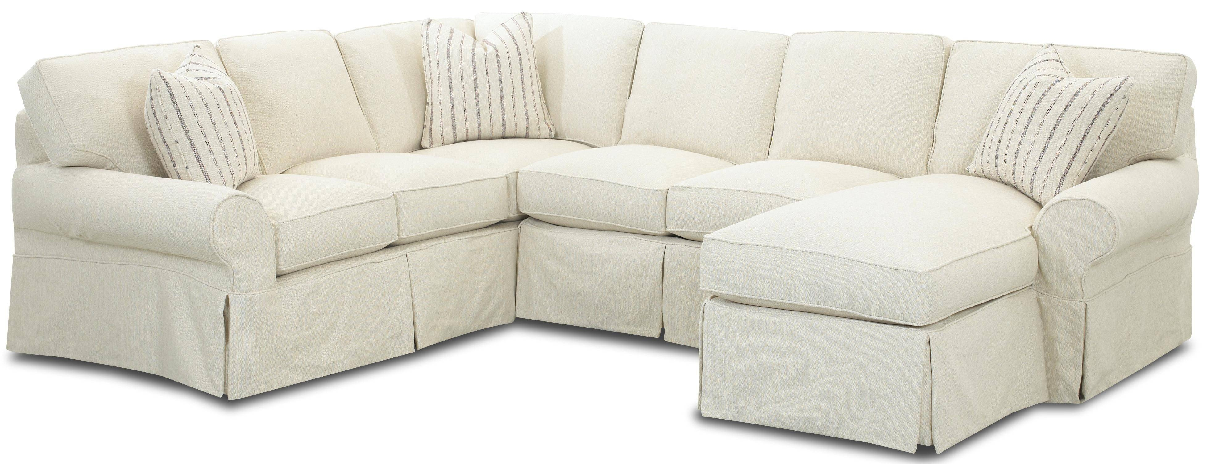 Furniture: Minimize Amount Of Fabric You Need To Tuck With with Slipcovers For Chaise Lounge Sofas (Image 6 of 15)
