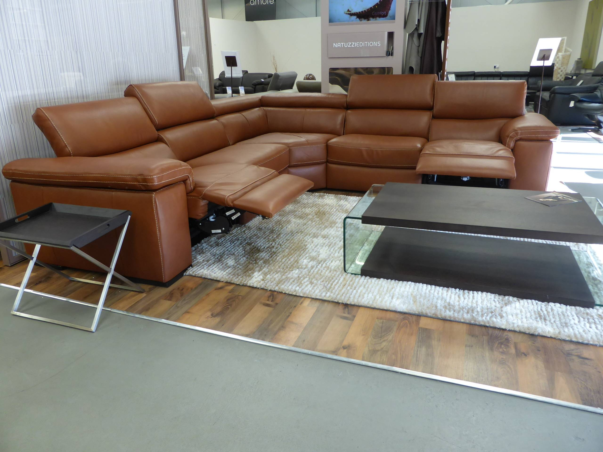 Furniture: Natuzzi Leather Couch | Macy's Leather Furniture inside Caramel Leather Sofas (Image 7 of 15)