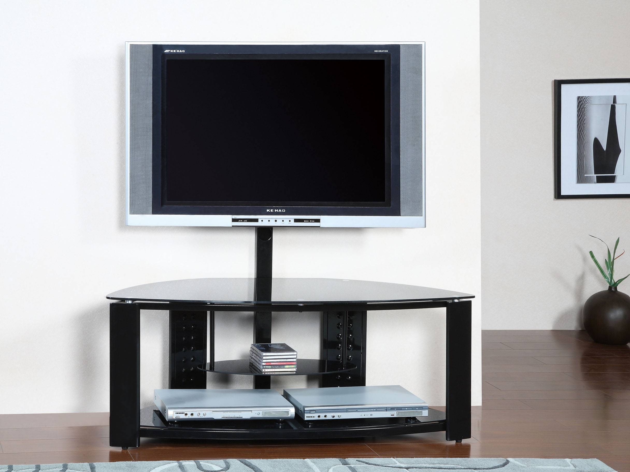 Furniture : Nice Short Tv Stands Designs - Evoninestore pertaining to Triangular Tv Stands (Image 7 of 15)