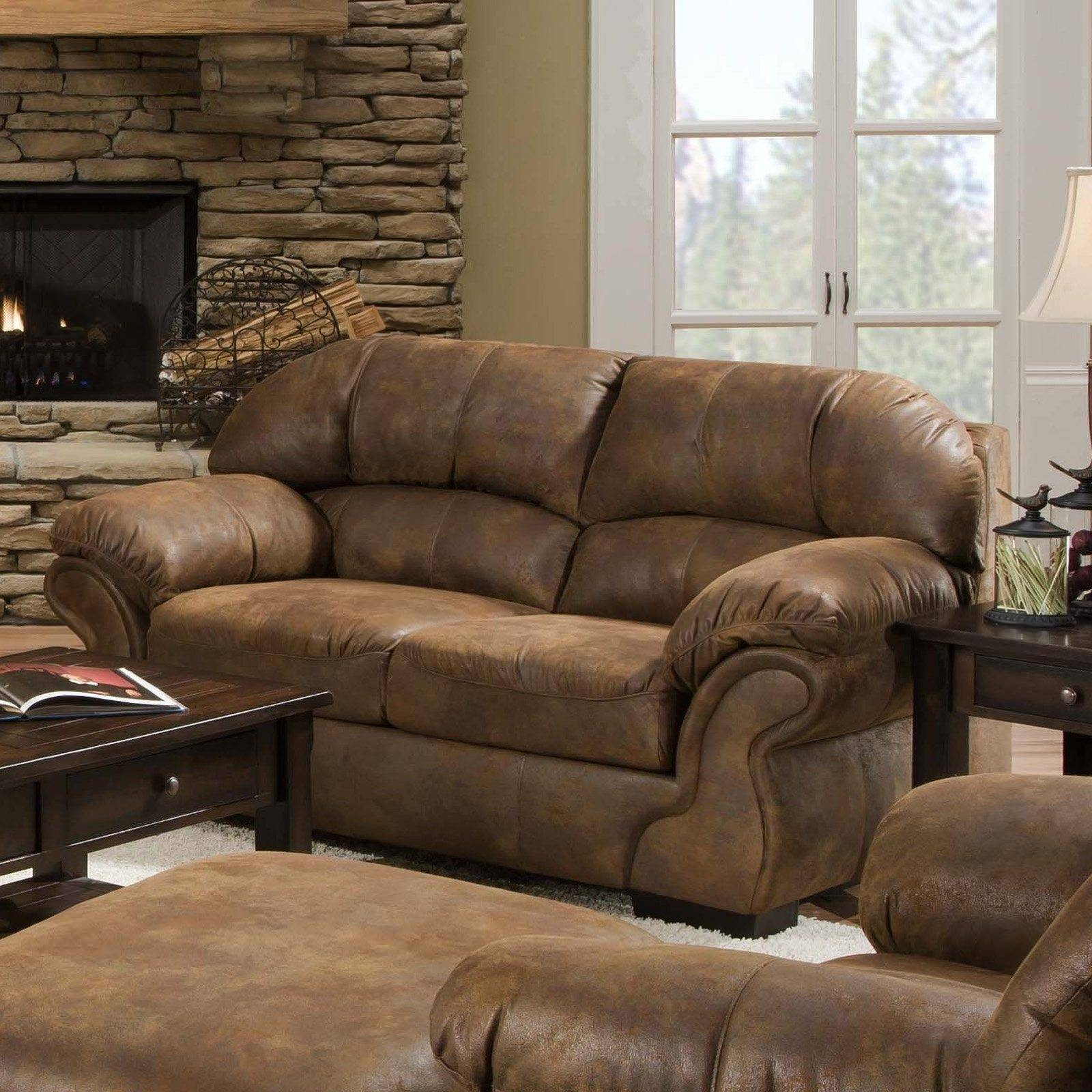 Furniture: Perfect Living Furniture Ideas With Deep Seated Couch inside Bomber Leather Sofas (Image 8 of 15)