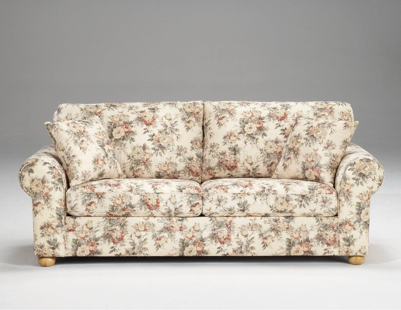 Furniture Remarkable Floral Pattern Fabric Traditional Sofa Within with Floral Sofas (Image 8 of 15)