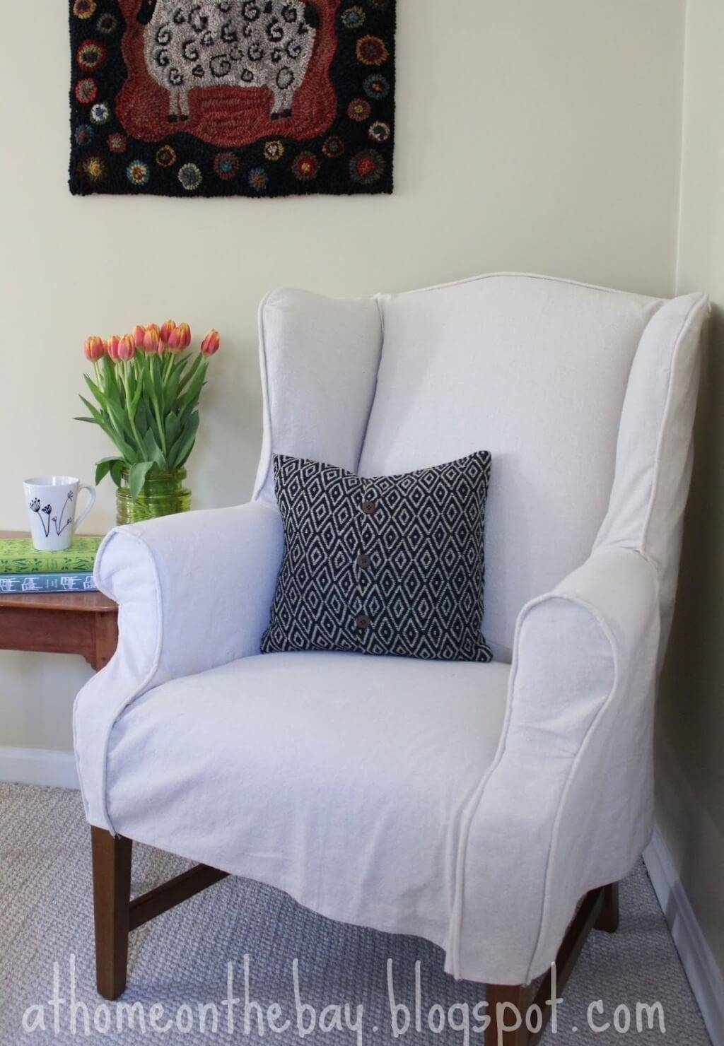 Furniture: Sectional Couch Slipcovers | Pottery Barn Slipcover with regard to Pottery Barn Chair Slipcovers (Image 8 of 15)