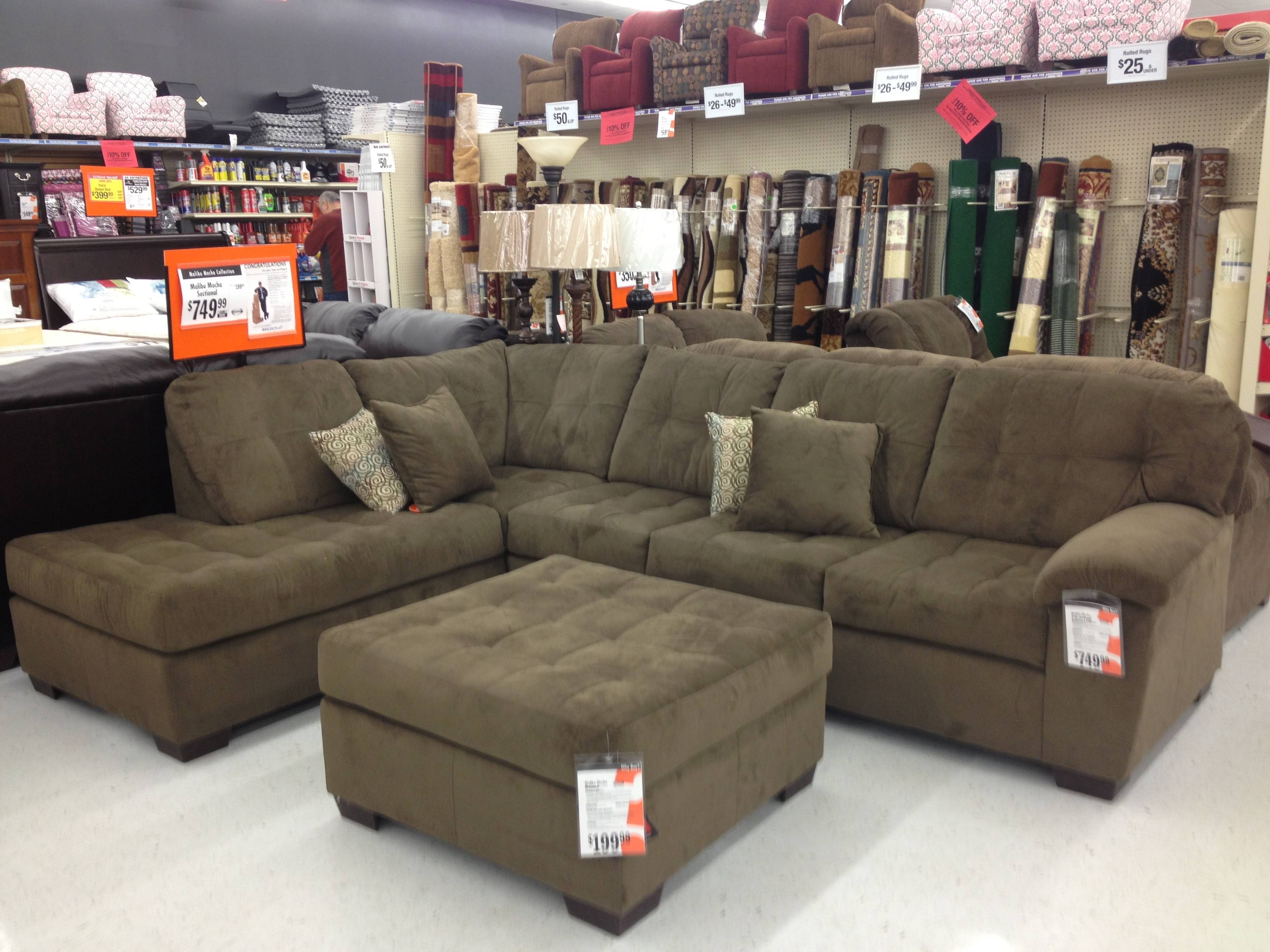 Furniture: Sectional Sofas Big Lots Simmons Bonded Leather Sofa within Big Lots Couches (Image 5 of 15)