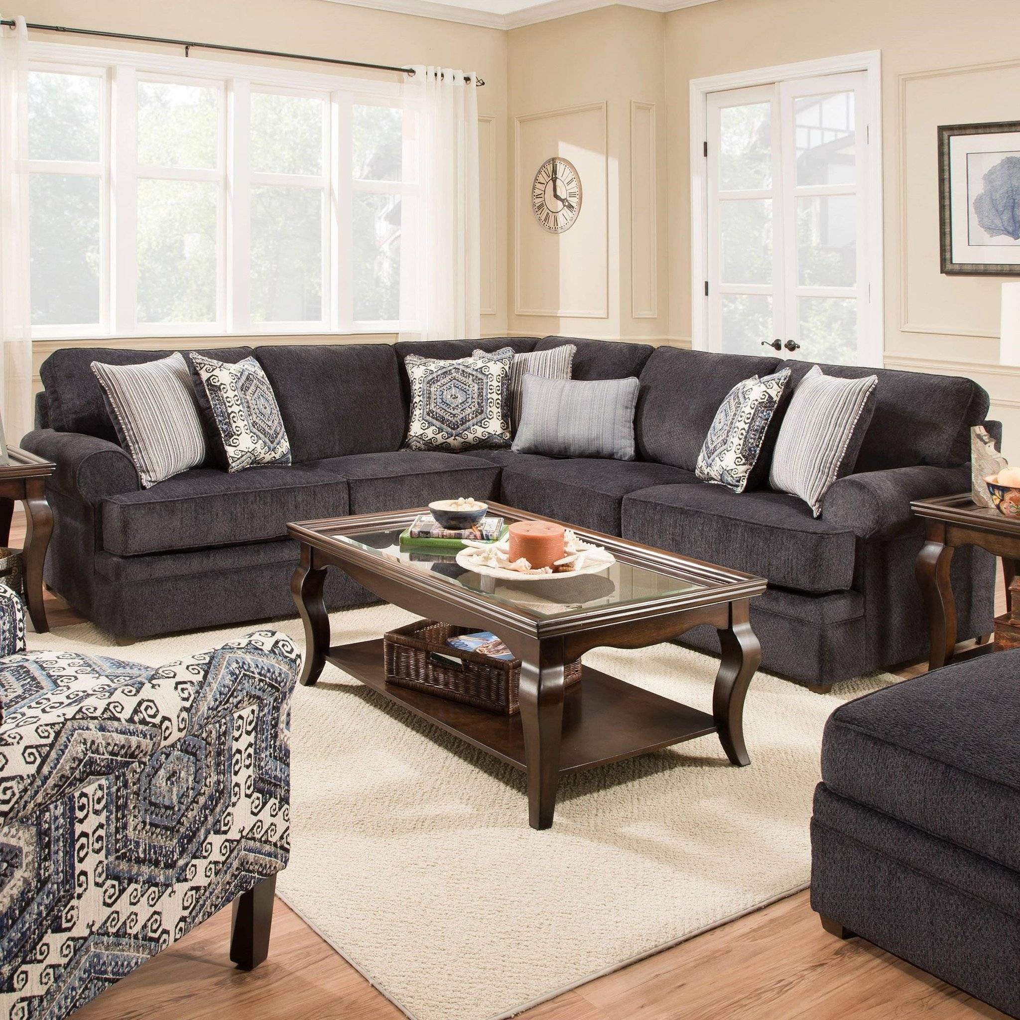 Furniture: Simmons Sectional For Comfortable Seating — Threestems pertaining to Simmons Microfiber Sofas (Image 10 of 15)
