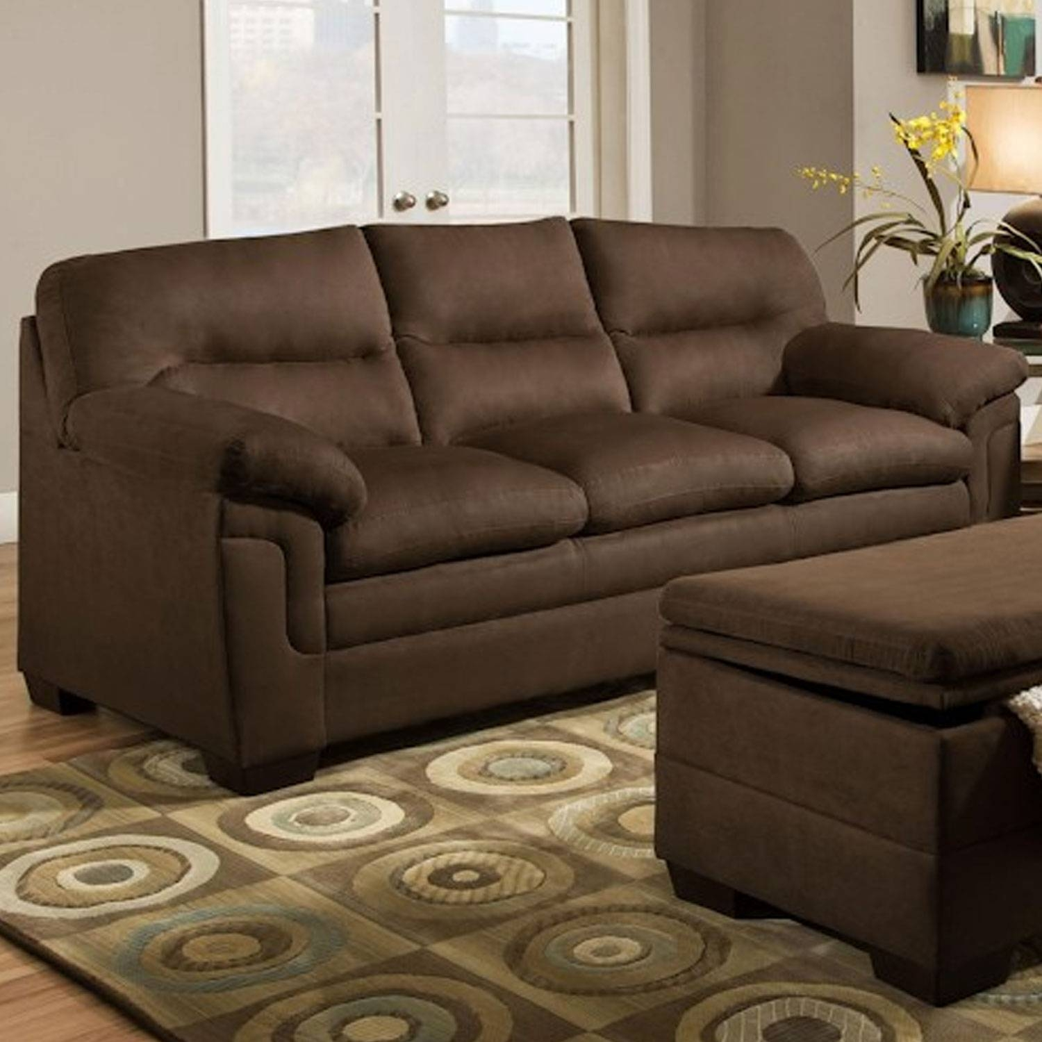 Furniture: Simmons Sofa For Comfortable Seating — Threestems Within Simmons Microfiber Sofas (View 12 of 15)