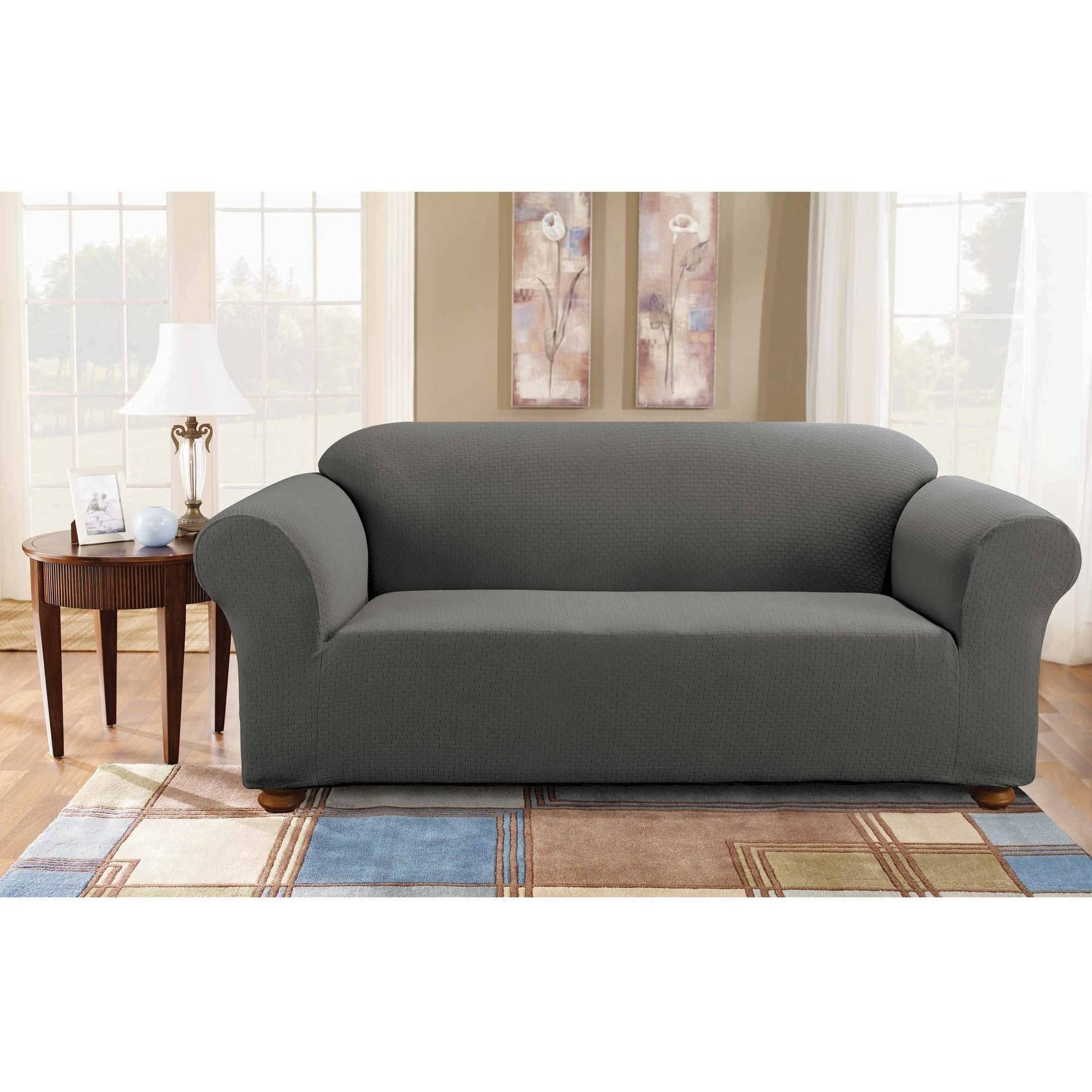 Furniture: Slipcover Loveseat T Cushion | Loveseat Slipcovers In within Loveseat Slipcovers T-Cushion (Image 6 of 15)