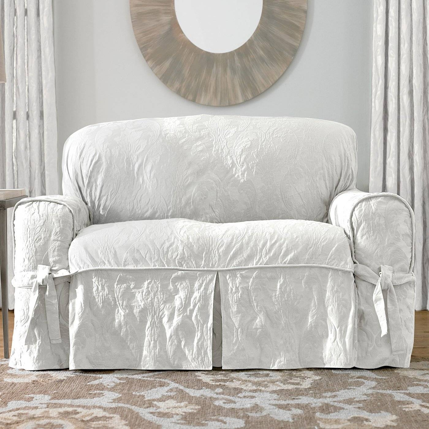 Furniture: Slipcovers For Loveseats | Slipcovers For Sofa And within Shabby Slipcovers (Image 6 of 15)