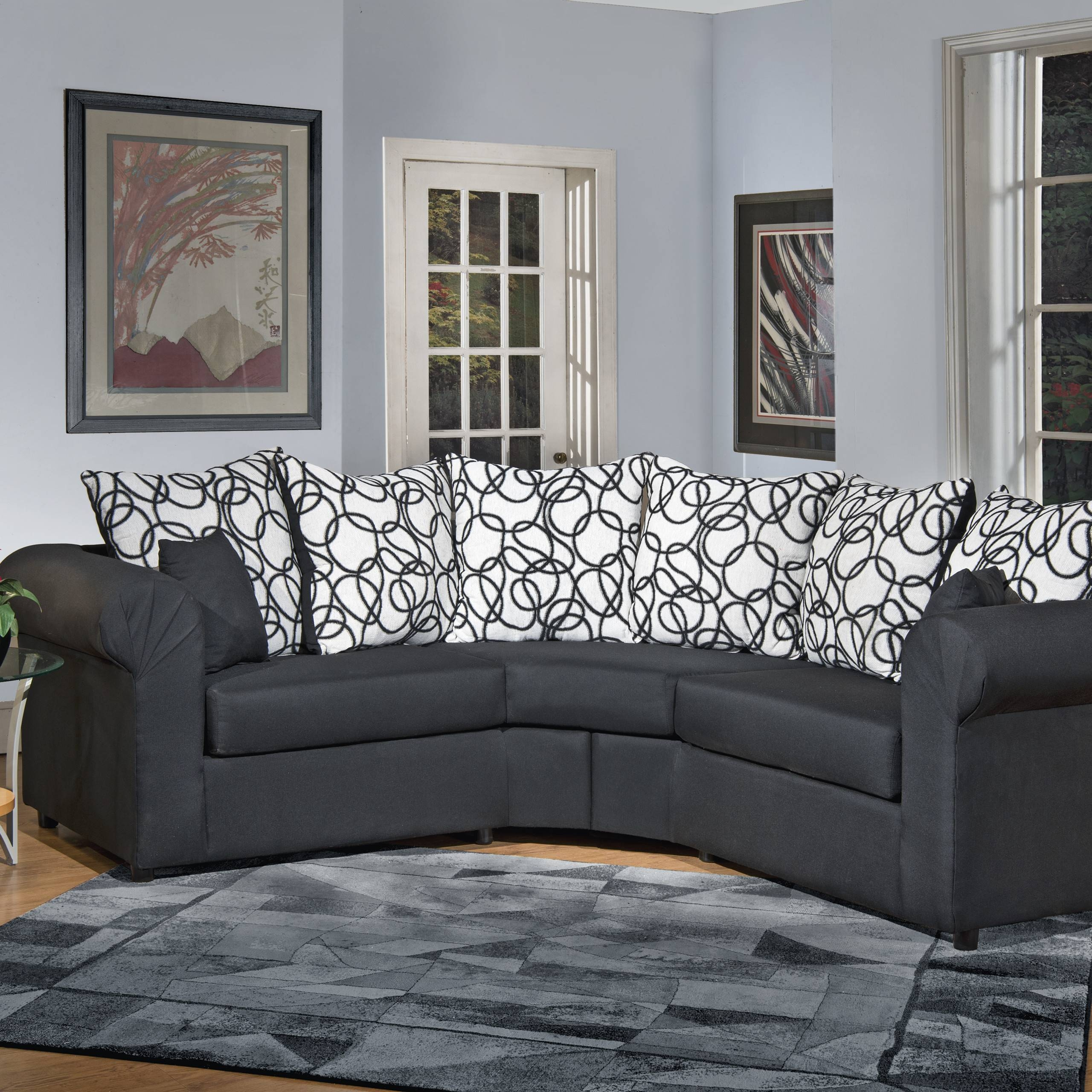 Furniture & Sofa: Small Sectionals For Small Spaces | Sectional throughout Piedmont Sofas (Image 4 of 15)