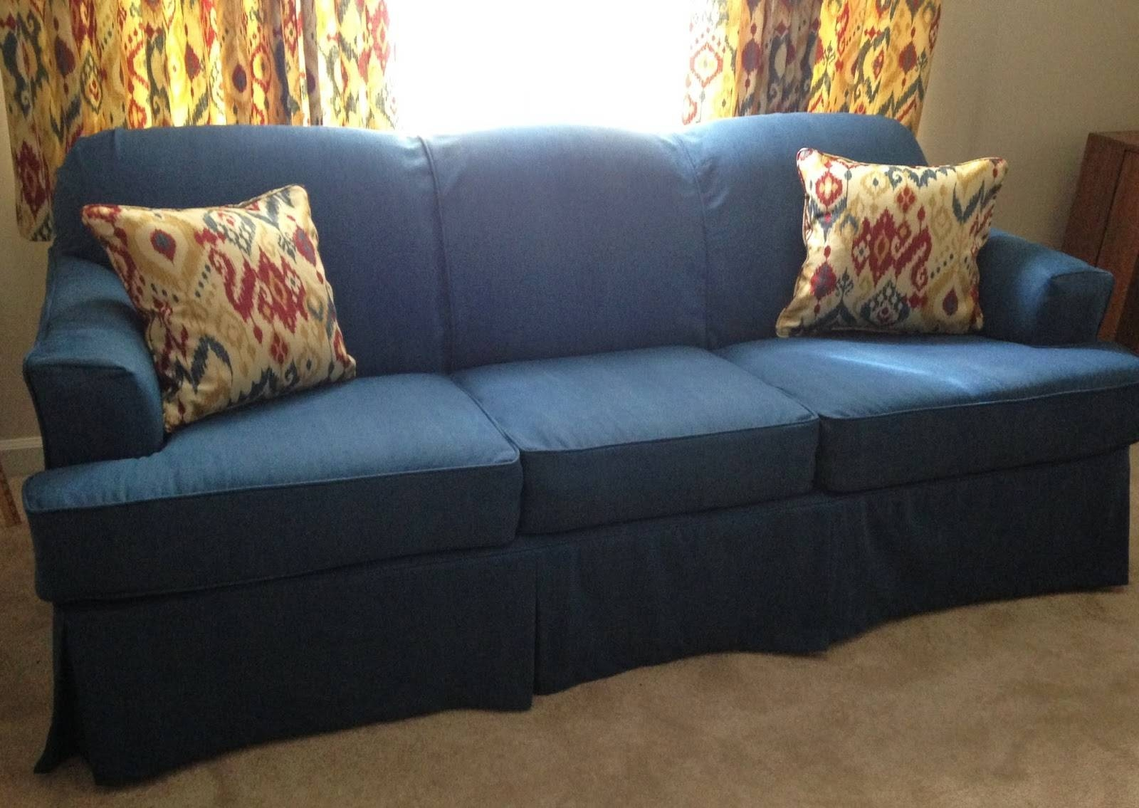 for vintage slipcovers sofa slipcover interesting soft sofas blue cushions astonishing pieces with denim idea