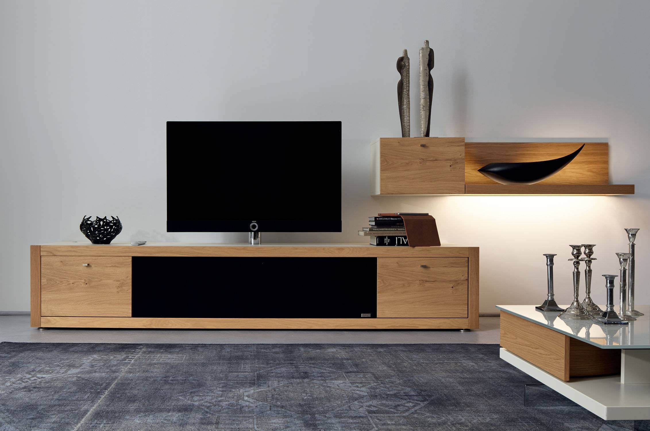 Furniture Trendy Tv Units For The Stylish Modern Home Minimalist Within Contemporary Oak Tv Stands (View 5 of 15)