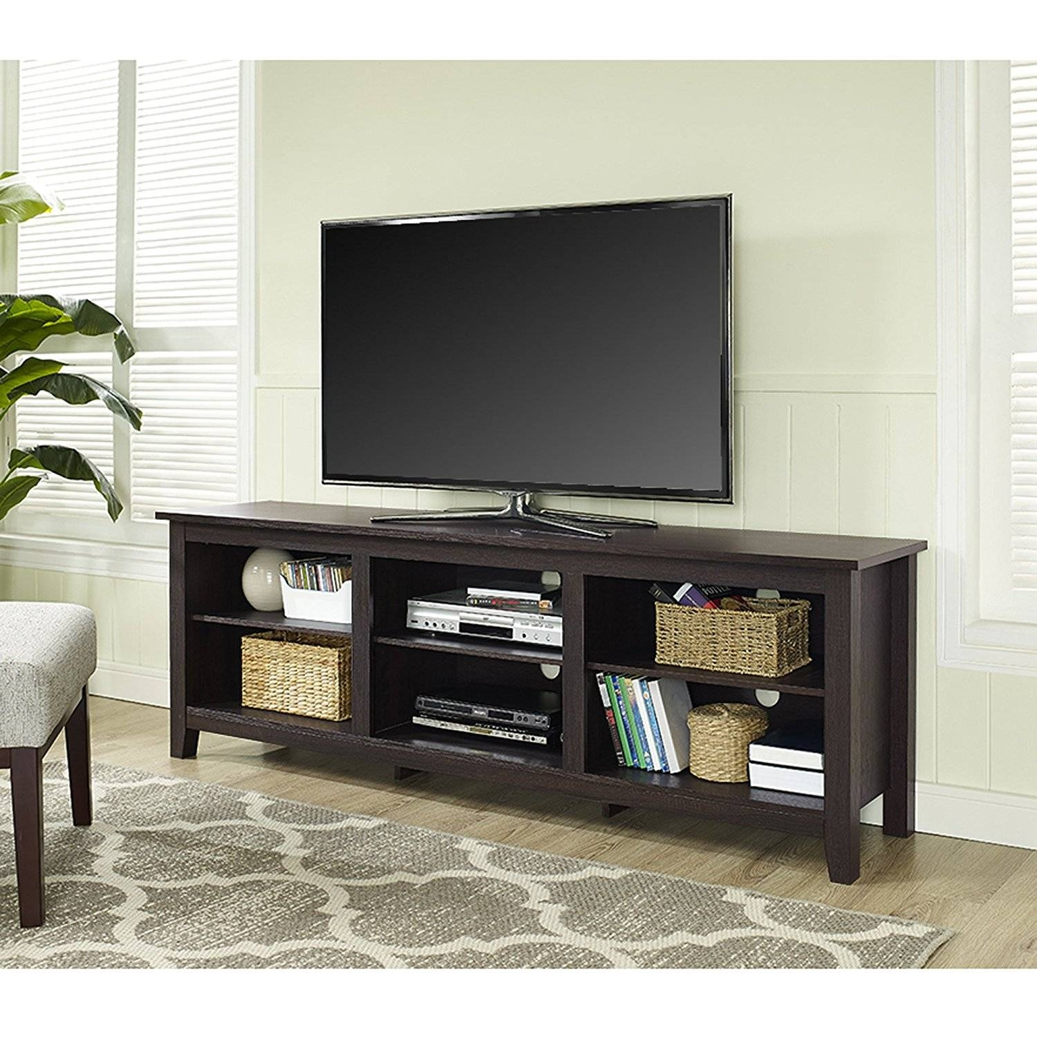 Furniture: Tv Stands For 55 Inch Flat Screen | Distressed Oak Tv Regarding Wooden Tv Stands For 55 Inch Flat Screen (View 8 of 15)