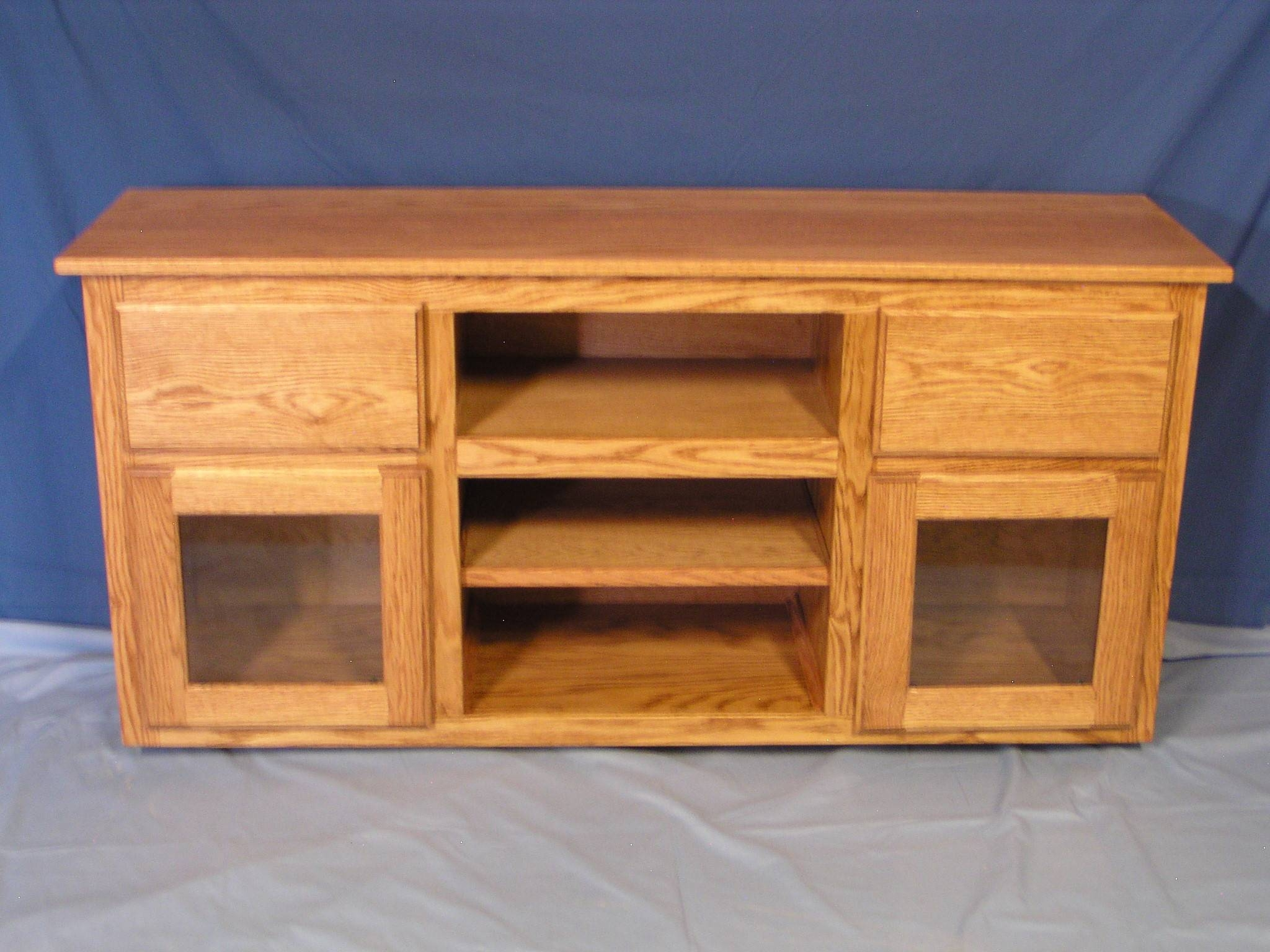 Furniture | Twisted Oak Custom Woodworks Intended For Oak Tv Cabinets For Flat Screens With Doors (View 3 of 15)