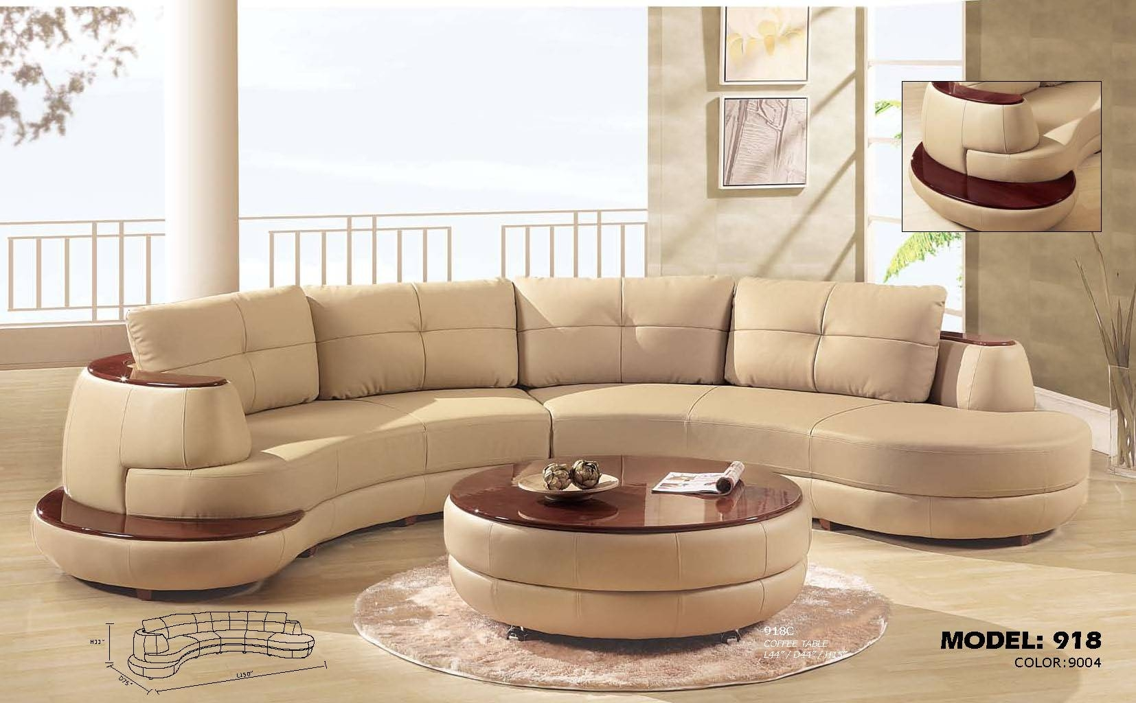 Furniture: Using Curved Sectional Sofa For An Exciting Living Room for Semi Sofas (Image 3 of 15)