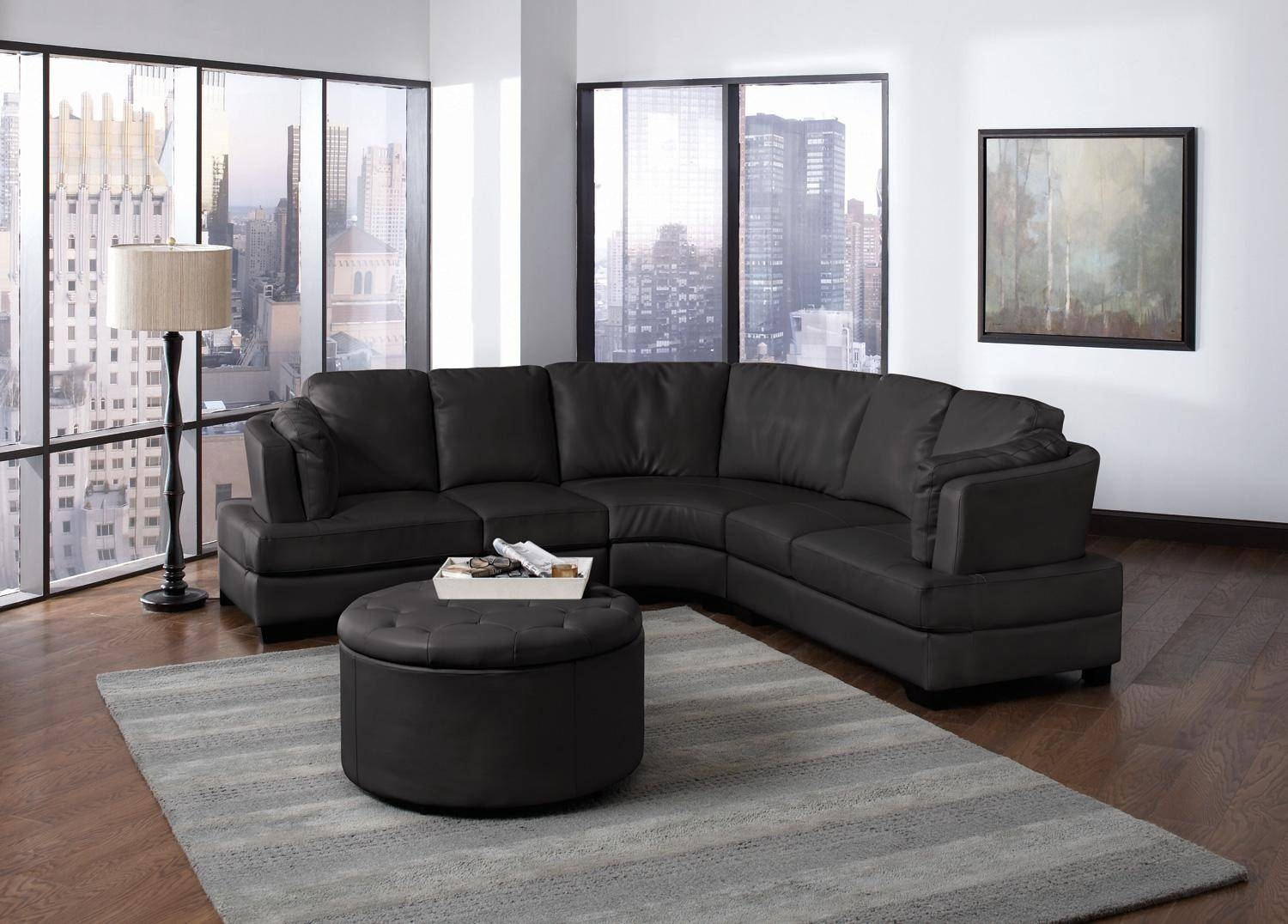 Furniture: Using Curved Sectional Sofa For An Exciting Living Room in Semi Sofas (Image 4 of 15)