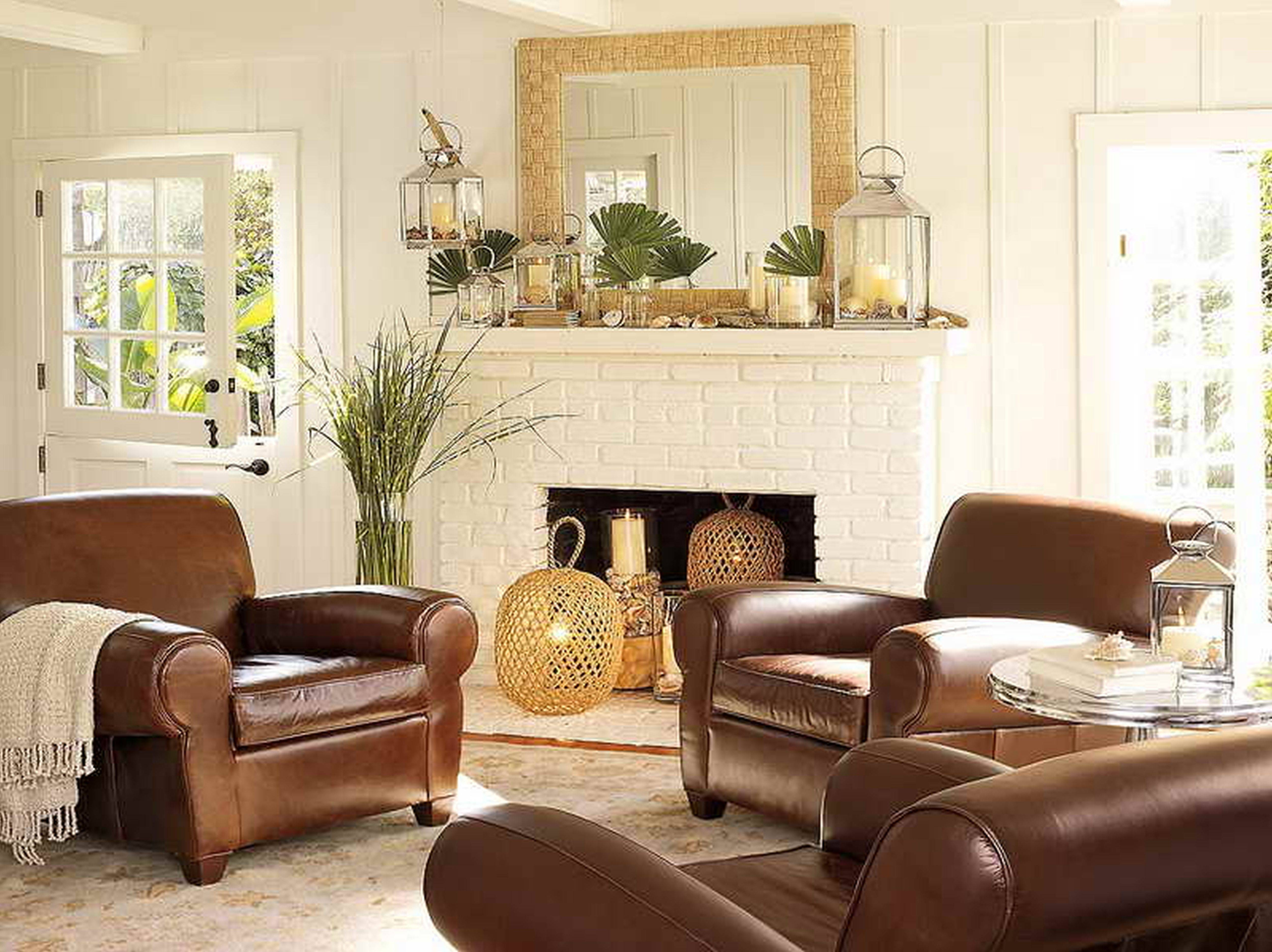 Furniture Vintage Home Decorating Ideas For Simple Living Room for Brown Sofas Decorating (Image 10 of 15)