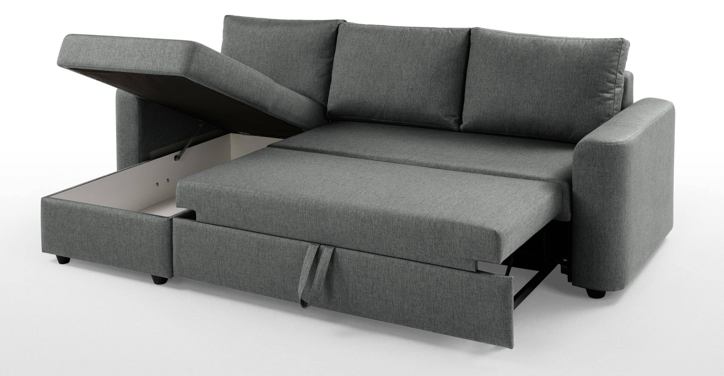 Furniture: Vivacious Chaise Sofa Bed With Softly Bed Foam For with Chaise Sofa Beds With Storage (Image 5 of 15)