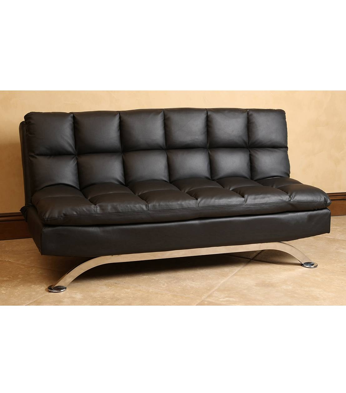Futons : Vienna Leather Futon Sofa within Euro Lounger Sofa Beds (Image 9 of 15)