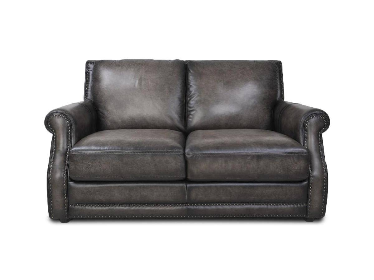 Futura Leather Fusion Fusion Charcoal Leather Sofa - Great in Charcoal Grey Leather Sofas (Image 8 of 15)