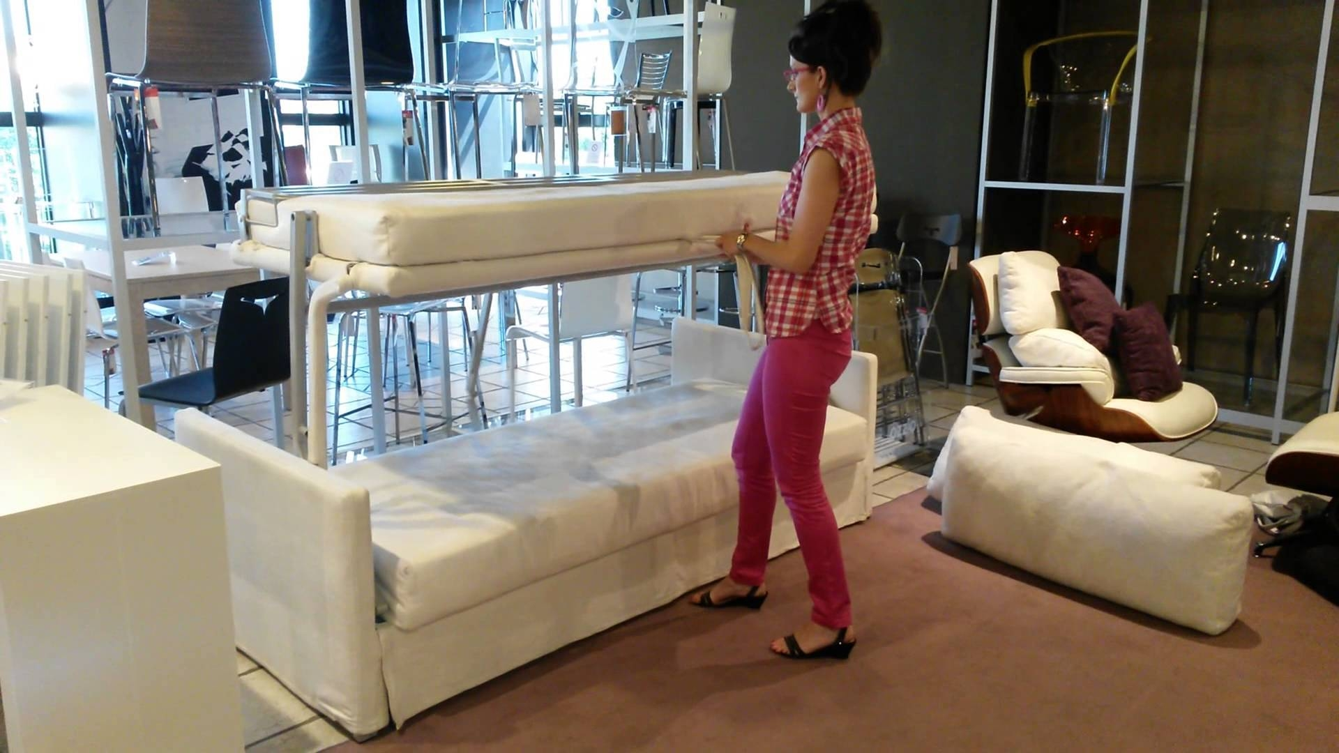 George Sofa Bunk Bed - Youtube regarding Sofas Converts to Bunk Bed (Image 6 of 15)