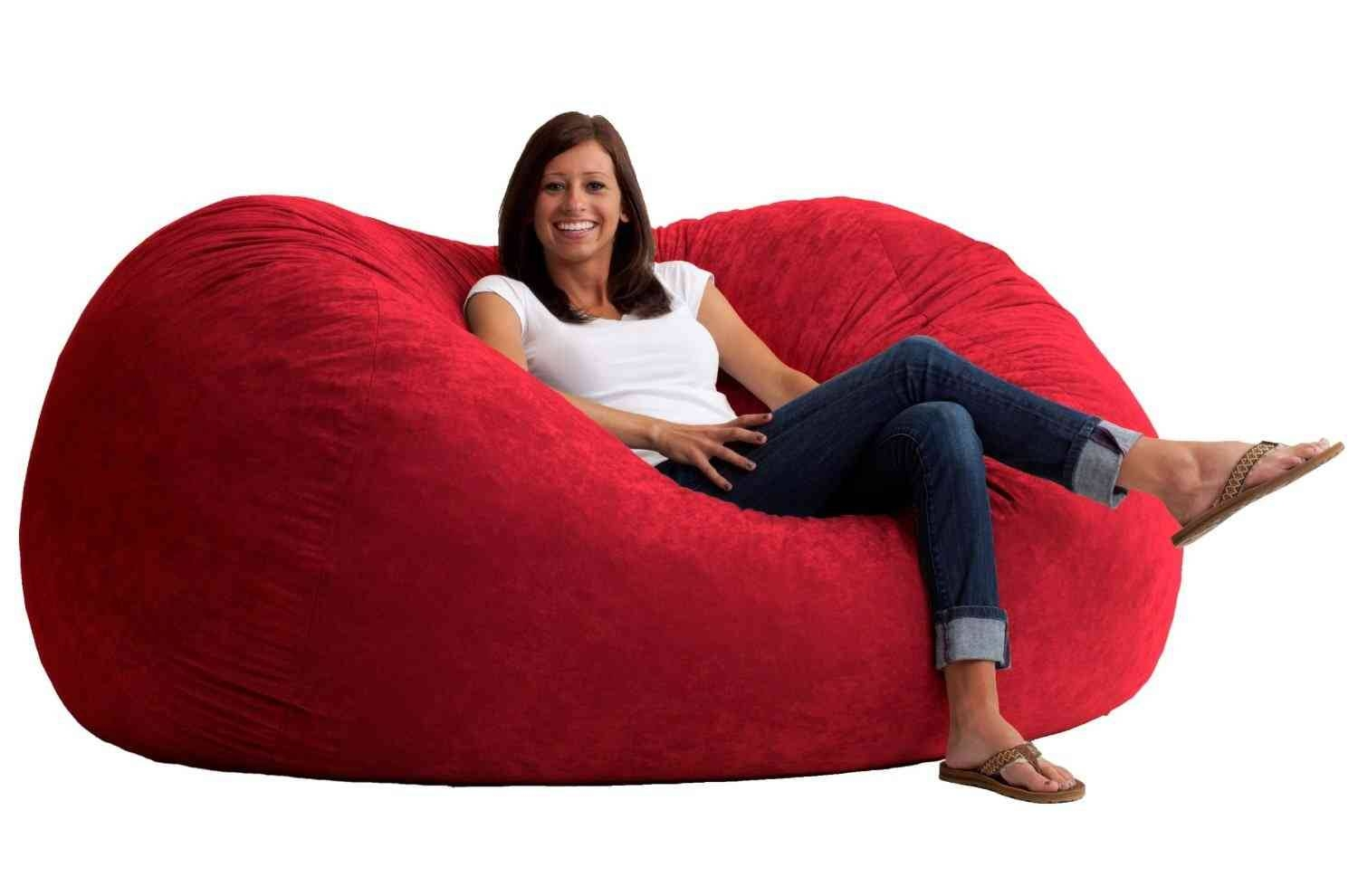 Giant Bean Bag Chair Lounger - Breakyourpiggybank throughout Giant Bean Bag Chairs (Image 12 of 15)