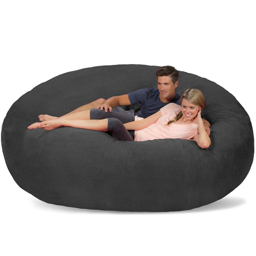 Giant Bean Bag - Huge Bean Bag Chair - Extra Large Bean Bag pertaining to Giant Bean Bag Chairs (Image 9 of 15)