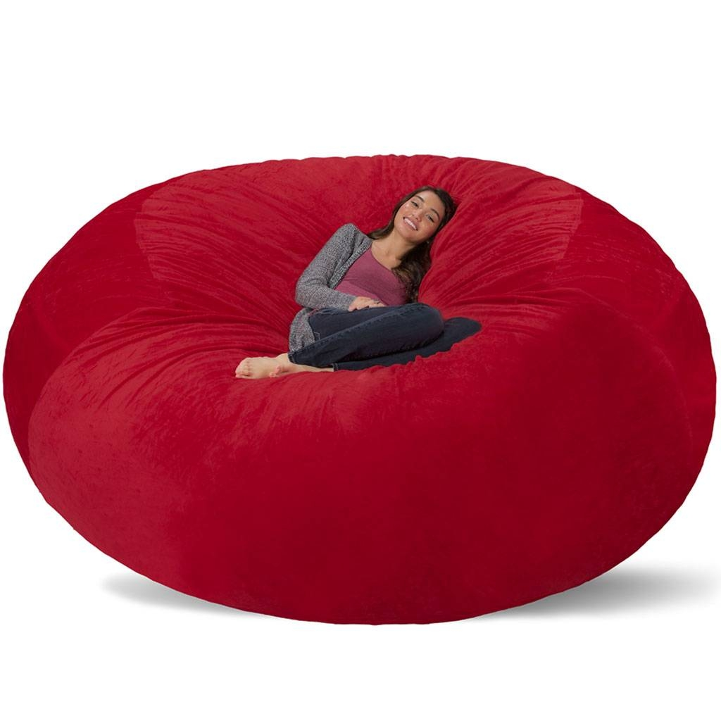 Giant Bean Bag - Huge Bean Bag Chair - Extra Large Bean Bag regarding Giant Bean Bag Chairs (Image 10 of 15)