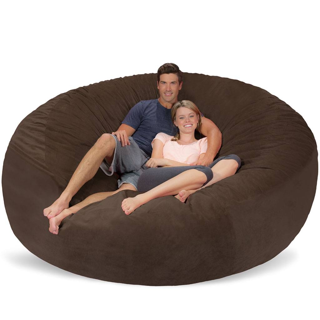 Giant Bean Bag - Huge Bean Bag Chair - Extra Large Bean Bag throughout Giant Bean Bag Chairs (Image 11 of 15)