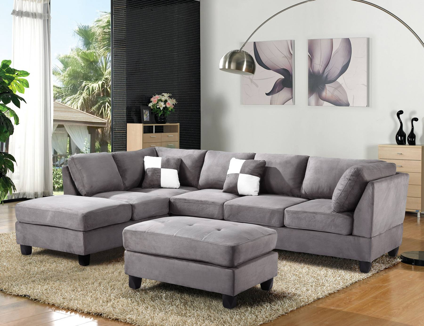Gl633 Lf Sectional Sofa G633B Glory Furniture Sectional Sofas At within Microfiber Sectional Sofas (Image 12 of 15)