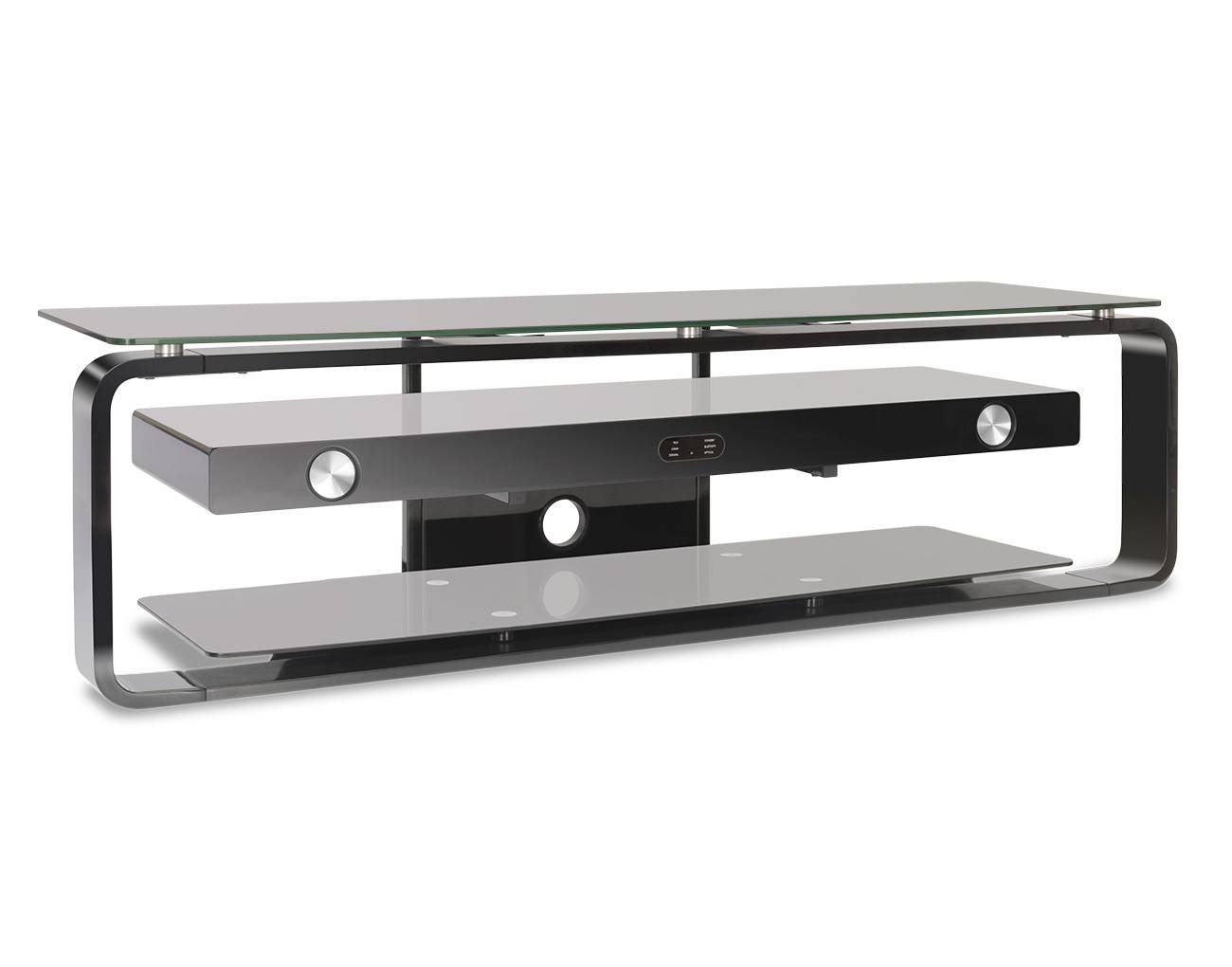 Glass Tv Cabinet With Integrated 80 Watt Soundbase Tvs1616 – Cello Throughout Glass Tv Cabinets (View 15 of 15)