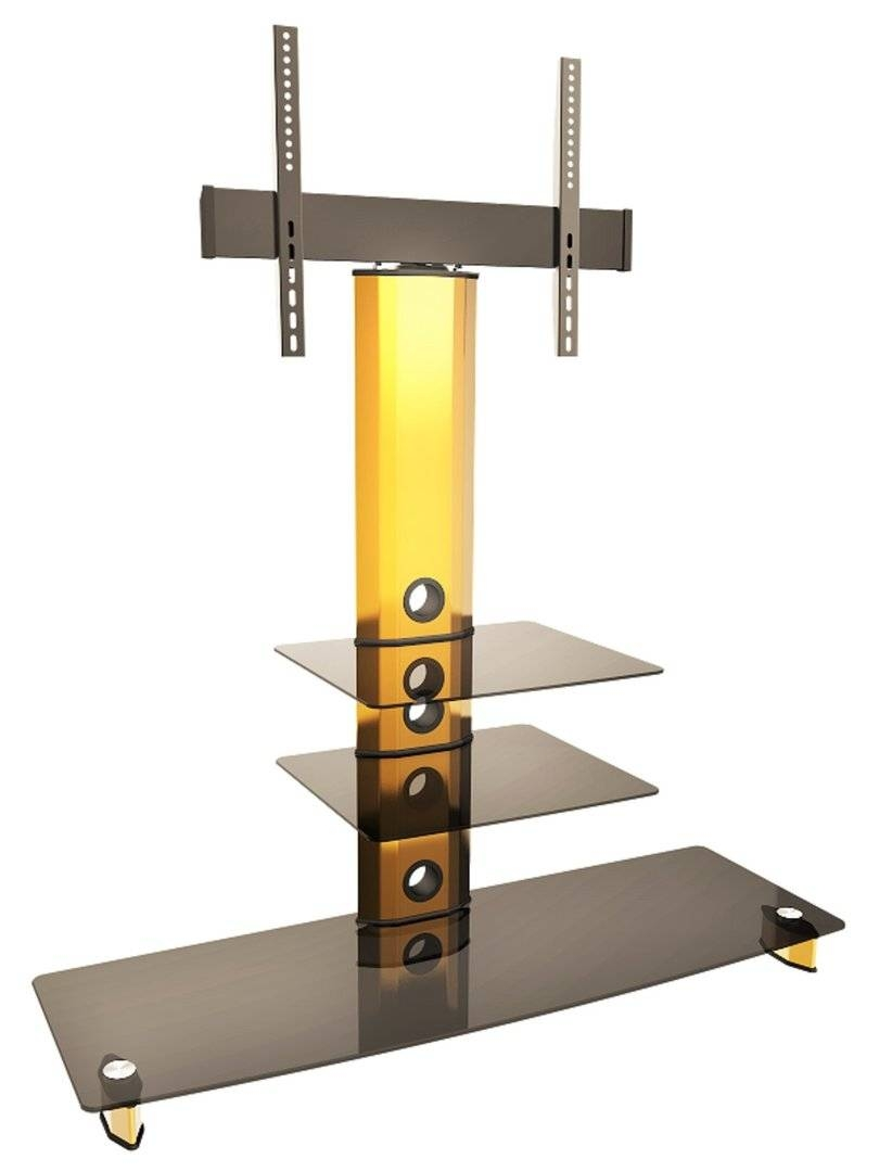 Glass Tv Stands Glass Tv Units Glass Tv Cabinets Glass Tv Stand Regarding Gold Tv Cabinets (View 5 of 15)