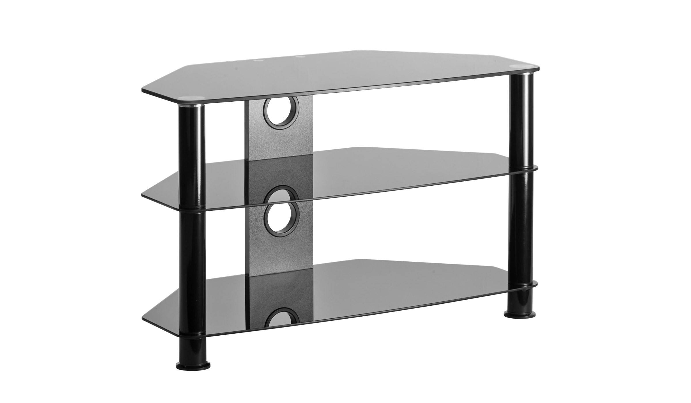 Glass Tv Stands & Tv Cabinets | Tv Wall Brackets & Mounts In Smoked Glass Tv Stands (View 12 of 15)