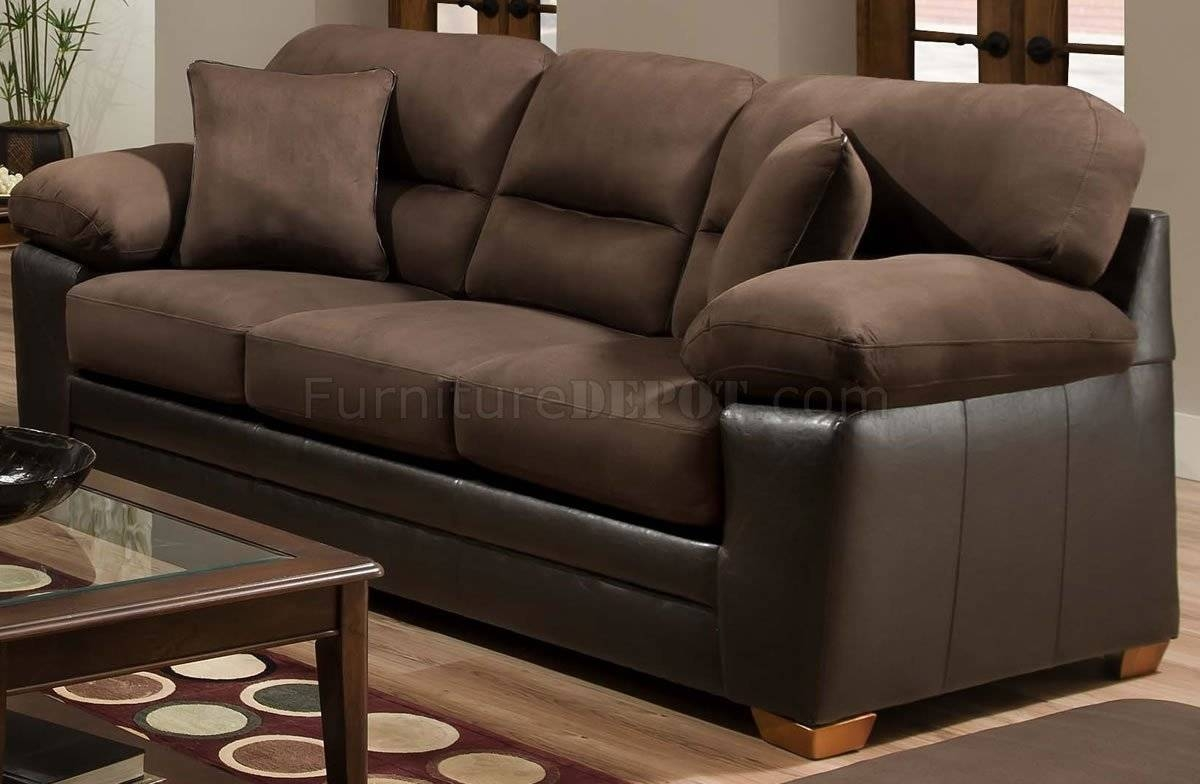 Godiva Microfiber Sofa & Loveseat Set W/accent Pillows with regard to Green Microfiber Sofas (Image 7 of 15)