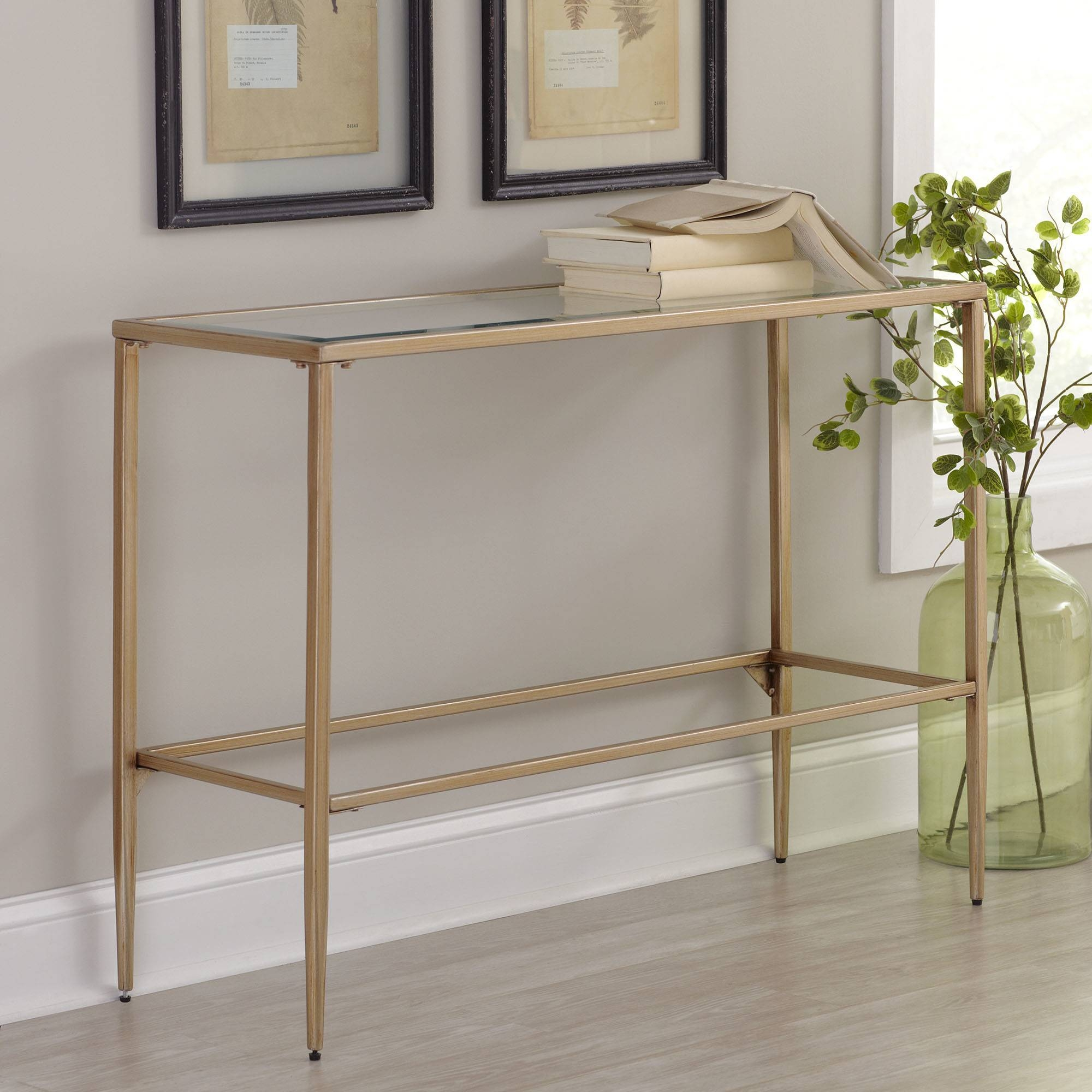Gold And Glass Console Table   Luxurious Gold Console Table Regarding Gold Sofa Tables (Photo 6 of 15)