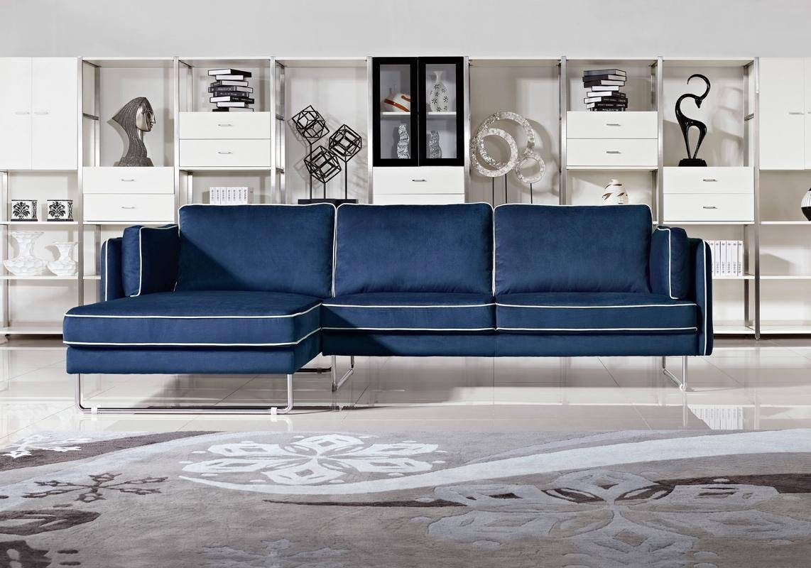Good Blue And White Sofa On Furniture With Fabric Couches, Corner in Blue and White Sofas (Image 5 of 15)