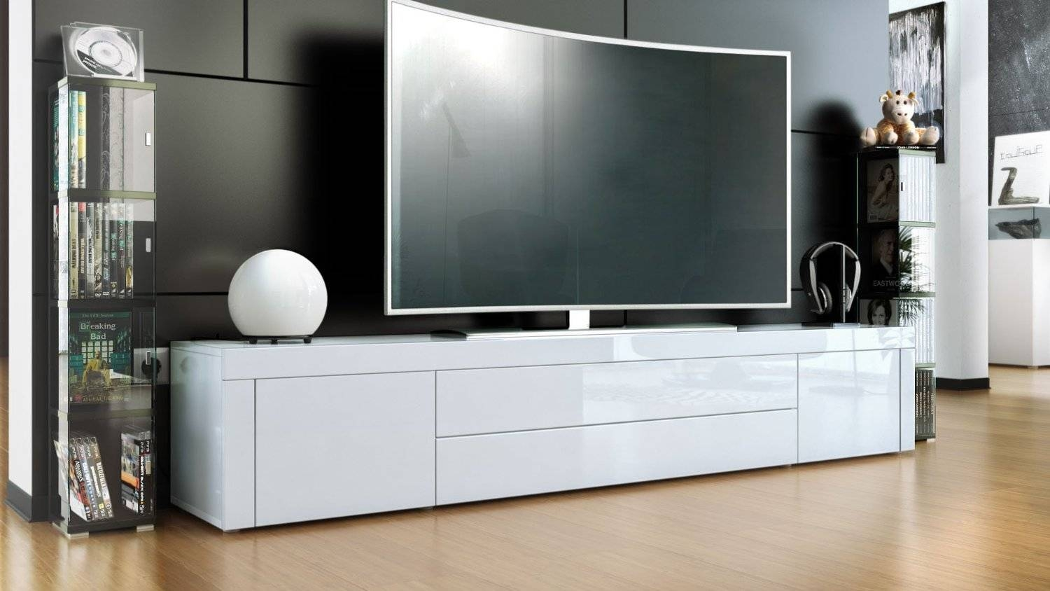 Good Tv Stands White Gloss 17 For Modern Home With Tv Stands White for Gloss White Tv Stands (Image 5 of 15)